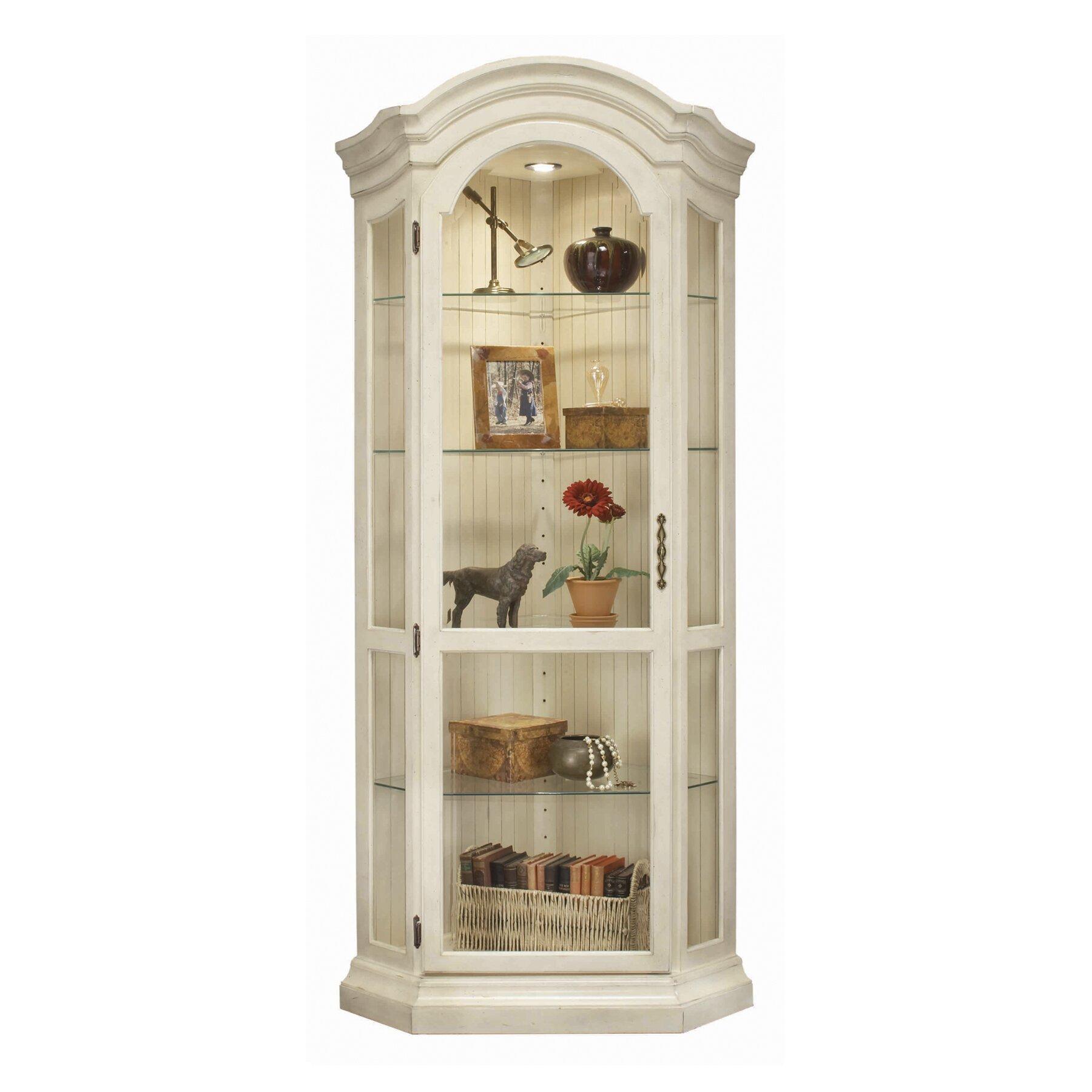 Jasper Curio Cabinet Philip Reinisch Co Colortime Panorama Corner Curio Cabinet