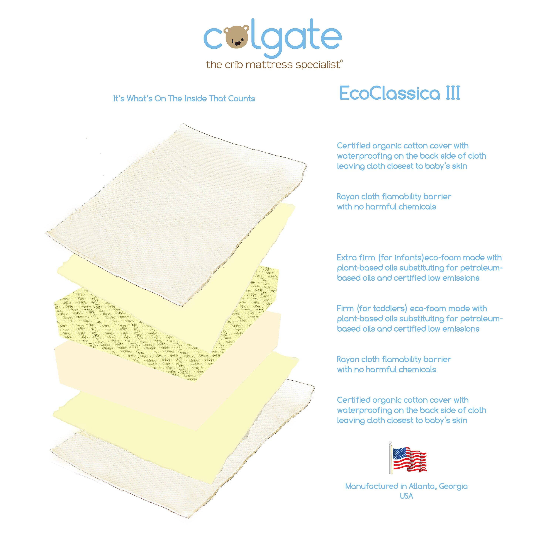 Crib for sale orlando fl - Colgate Eco Classica Iii Dual Firmness Foam Crib Mattress