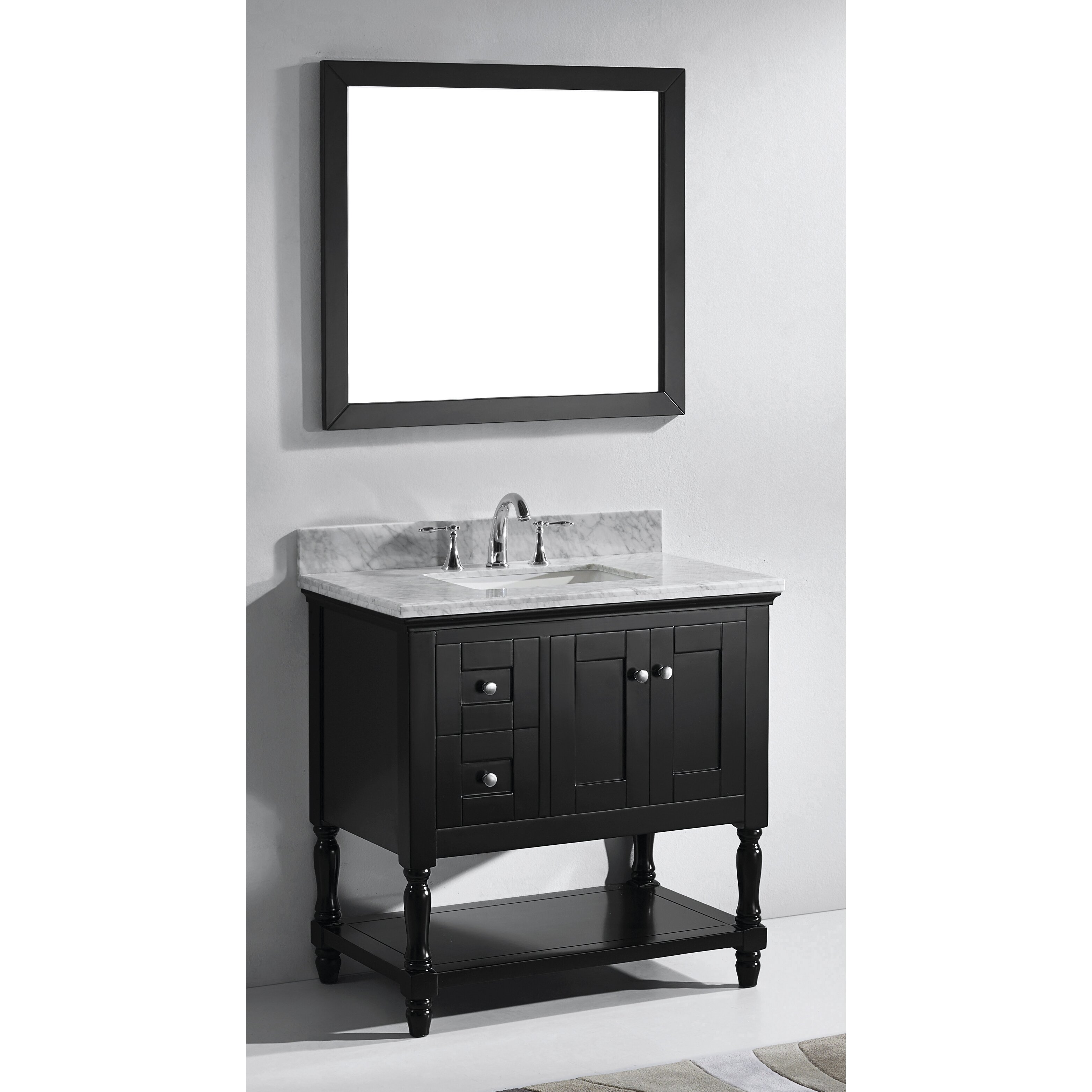 white bathroom vanity set virtu julianna 36 quot single bathroom vanity set with carrara 21479