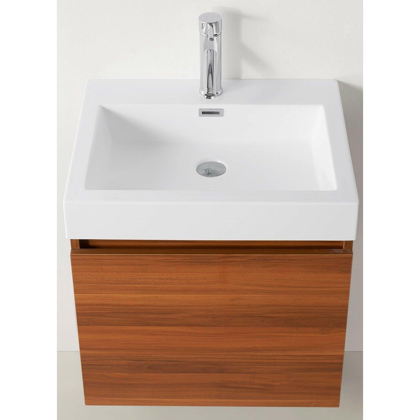Virtu zuri 24 single bathroom vanity set with white top for 24 white bathroom vanity with top