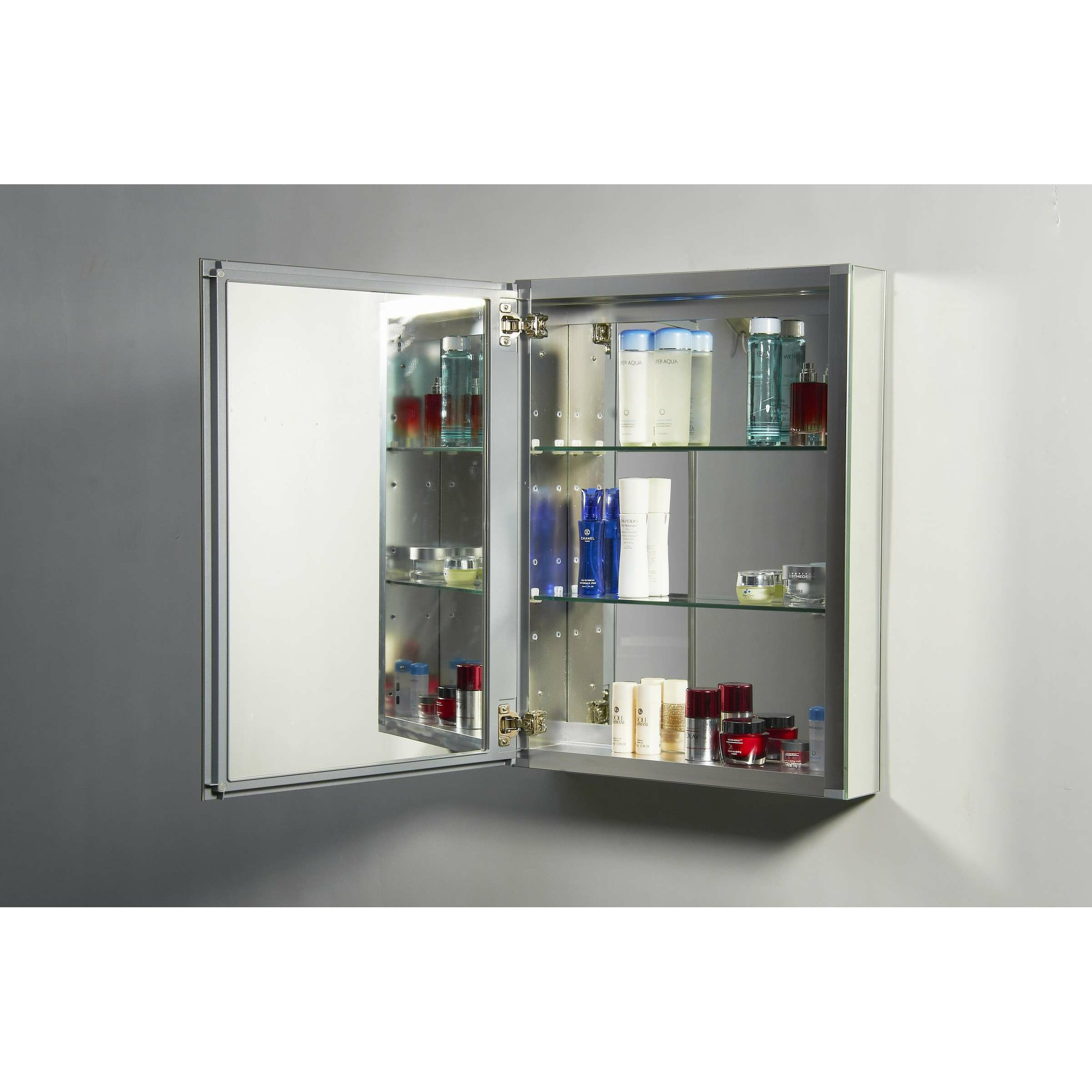 virtu confidant 26 quot x 20 recessed or surface mount medicine cabinet
