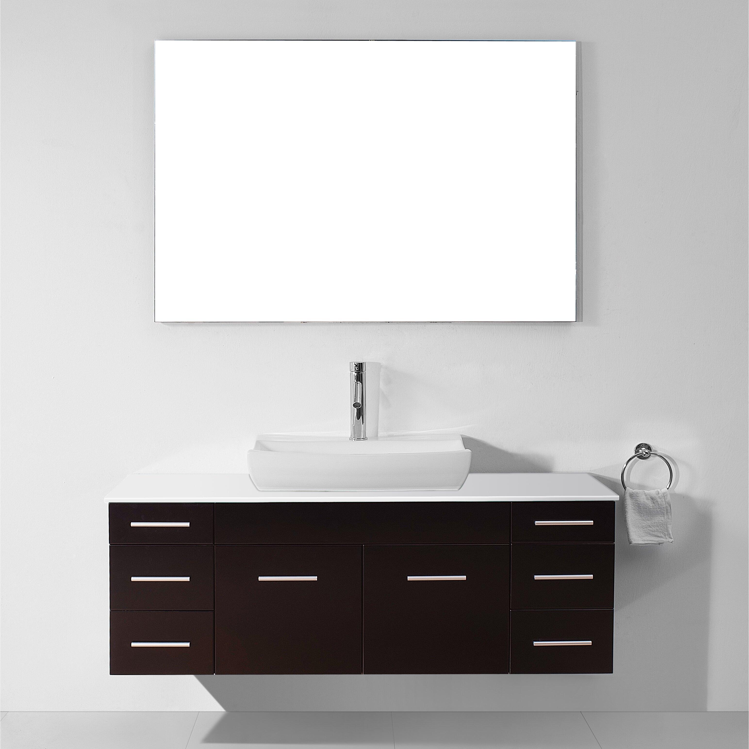 Virtu Ultra Modern Series 56 Single Bathroom Vanity Set