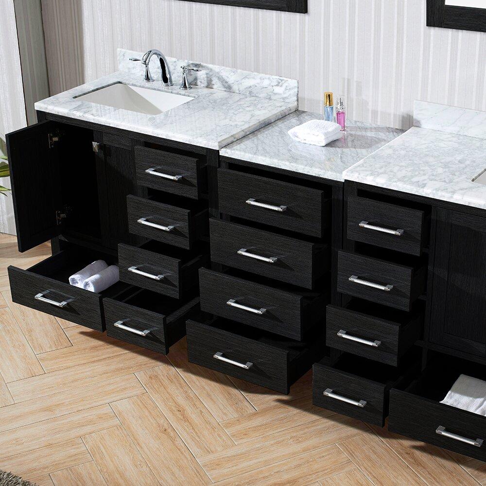 90 Bathroom Vanity  Bathroom Vanity Virtu Caroline 90ampquot Double Cabinet  With Mirror. 90 Bathroom Vanity  Bathroom Vanity Silkroad Exclusive English