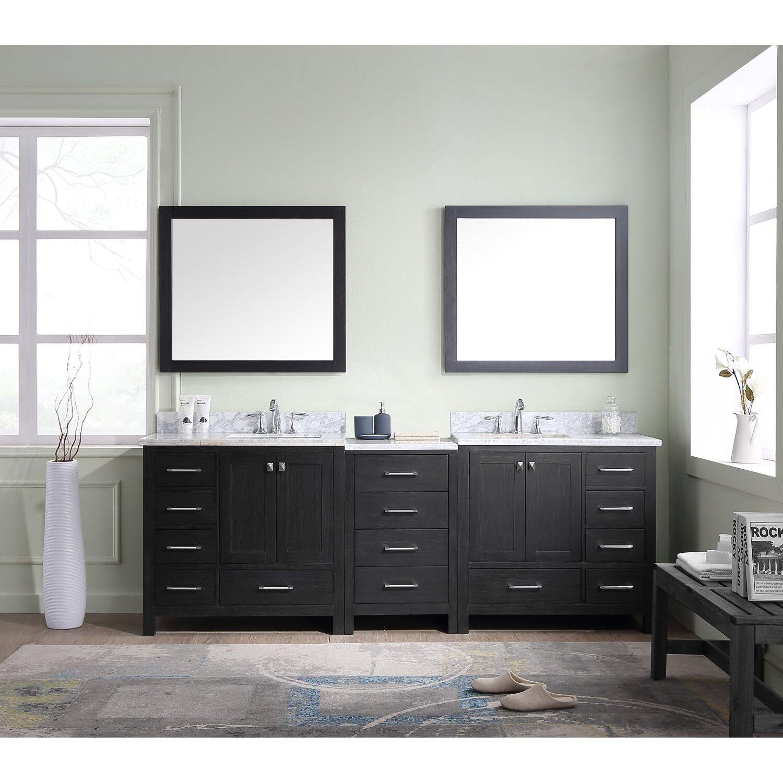 Virtu Caroline 90 Double Bathroom Vanity Cabinet Set with Mirror – Bathroom Vanity and Cabinet Sets