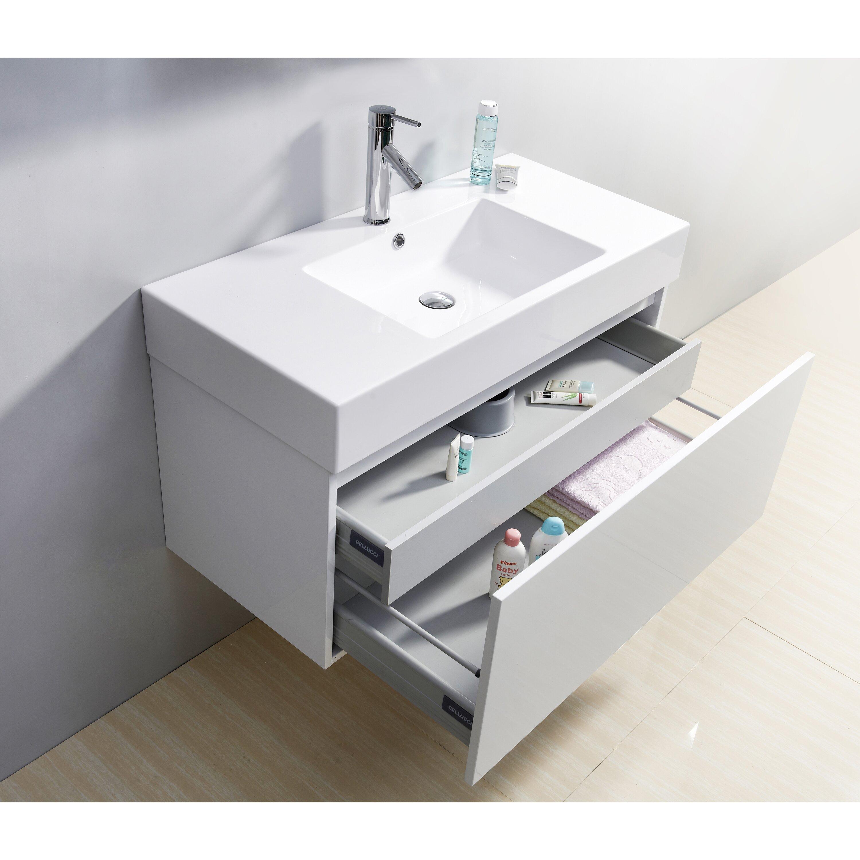 39 Bathroom Vanity Virtu Rever Lofts 39 Single Bathroom Vanity Set Reviews Wayfair