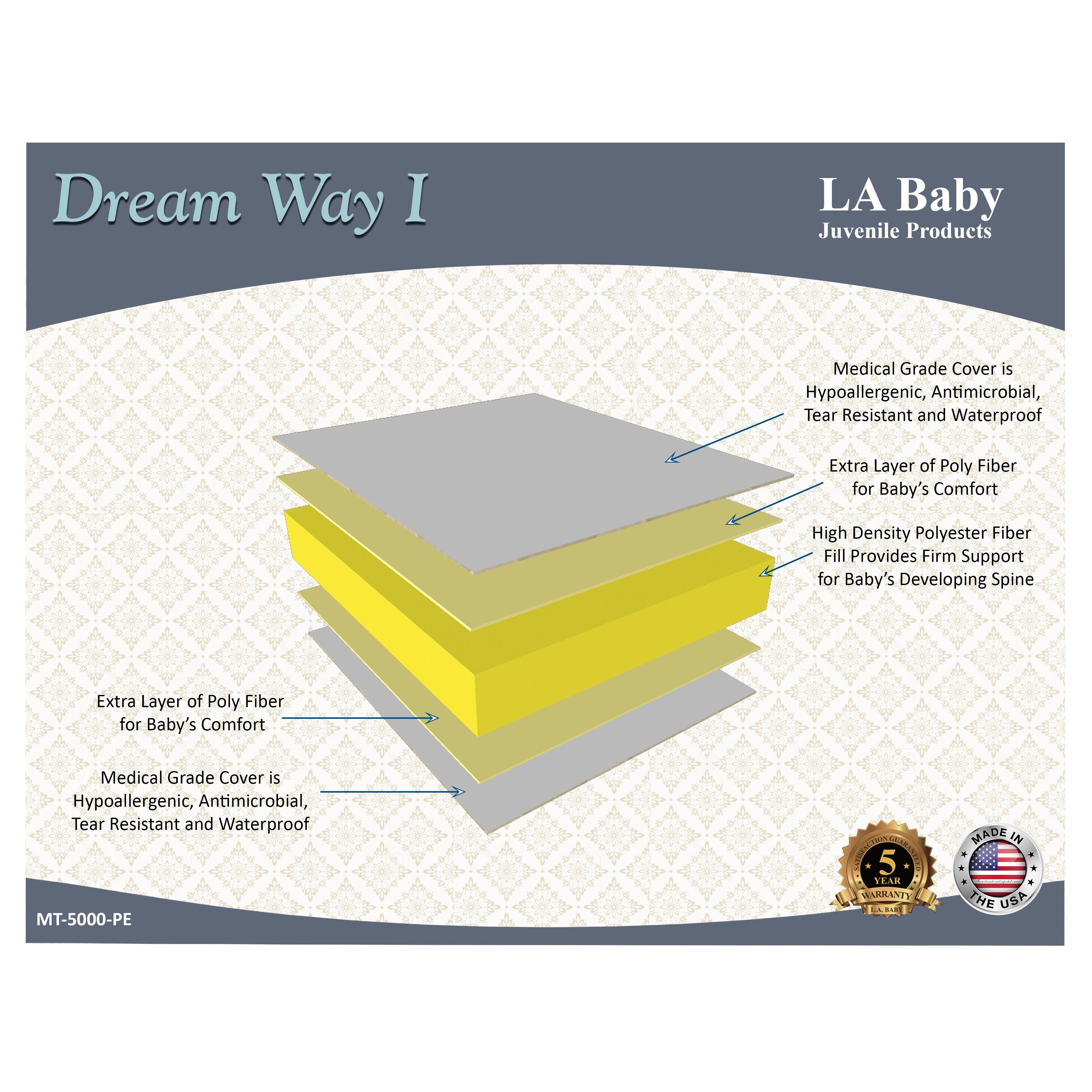 Baby crib mattress comparison - L A Baby Dream Way Crib Mattress