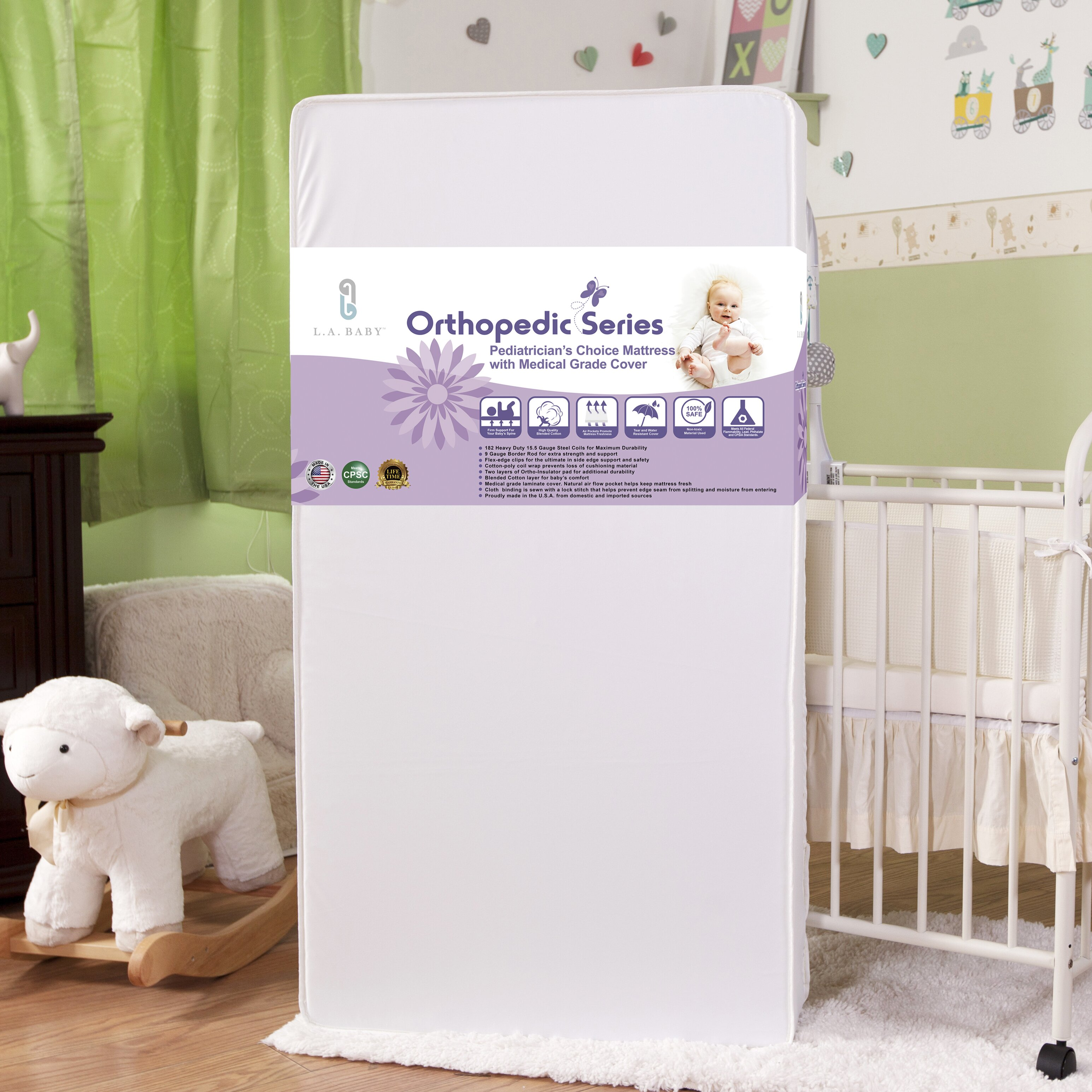Crib mattress for babies - L A Baby Pediatrician S Choice Crib Mattress With Medical Grade Cover