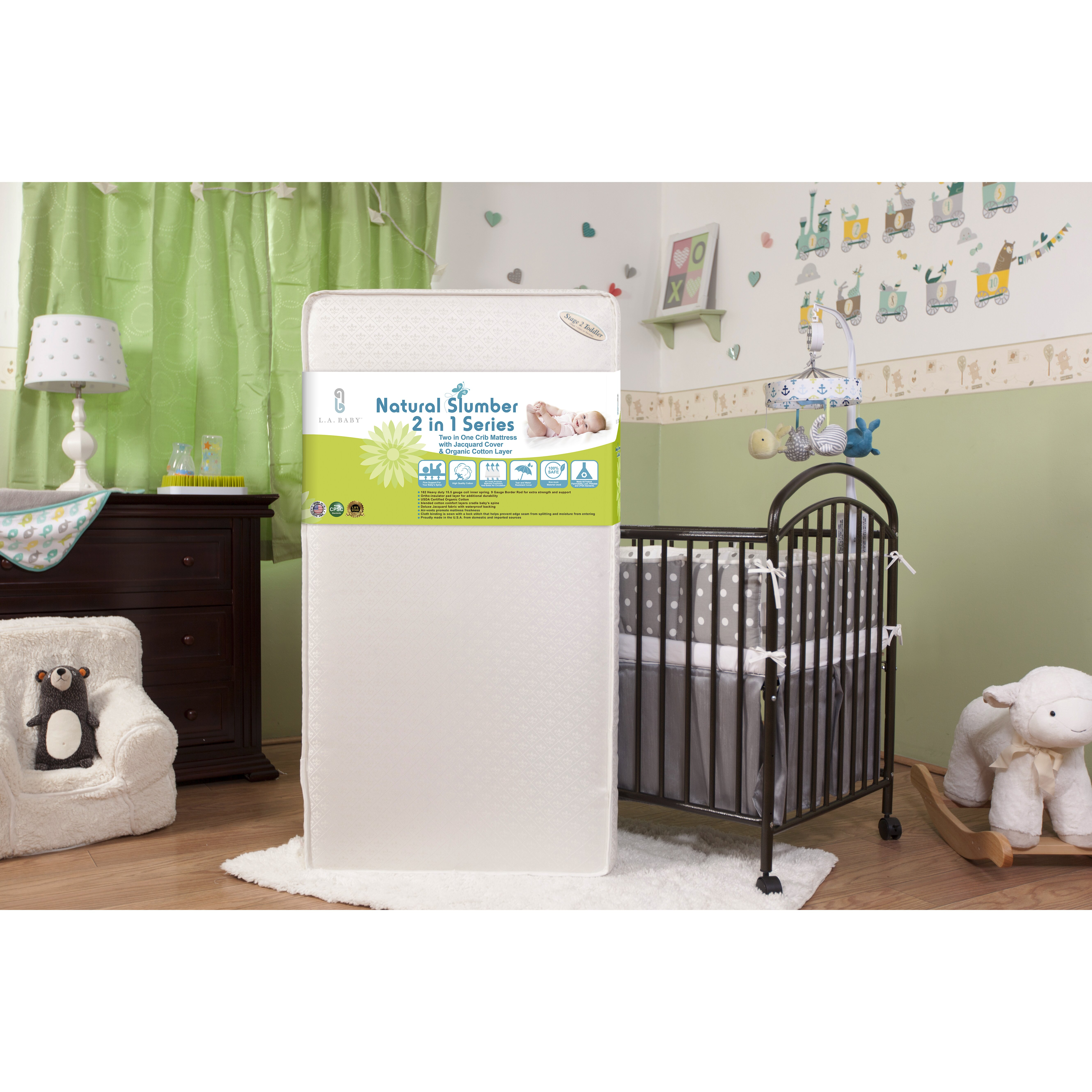 Crib for sale orlando fl - Viv Rae Trade Eugenia Two In One 5 75 Quot Crib Mattress With Jacquard Cover Amp