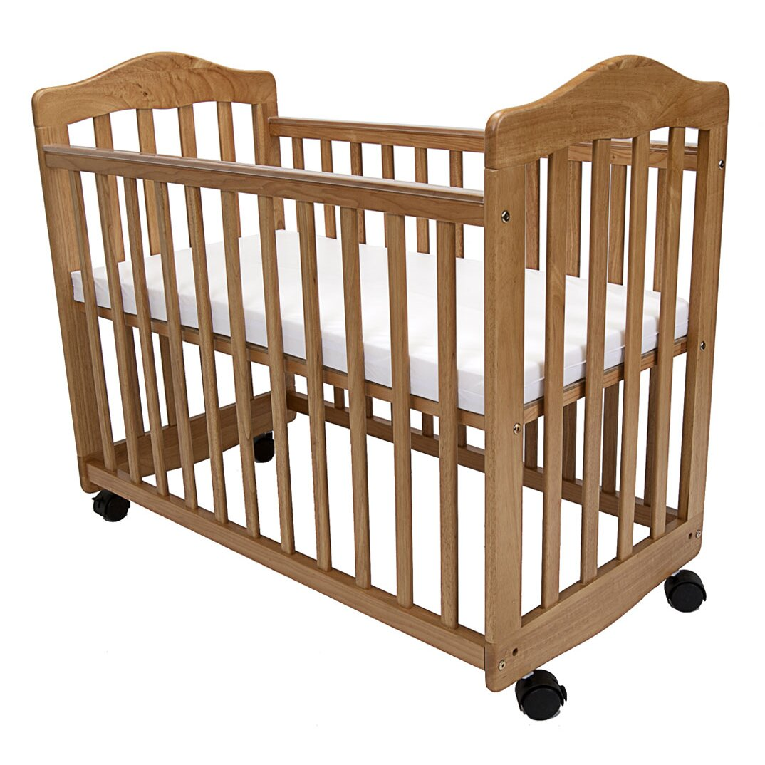 Evacuation crib for sale - L A Baby Bedside Manor Compact Cradle Convertible Crib With Mattress