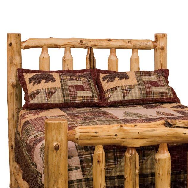 Lodge Style Bedroom Furniture: Fireside Lodge Traditional Cedar Log Slat Headboard