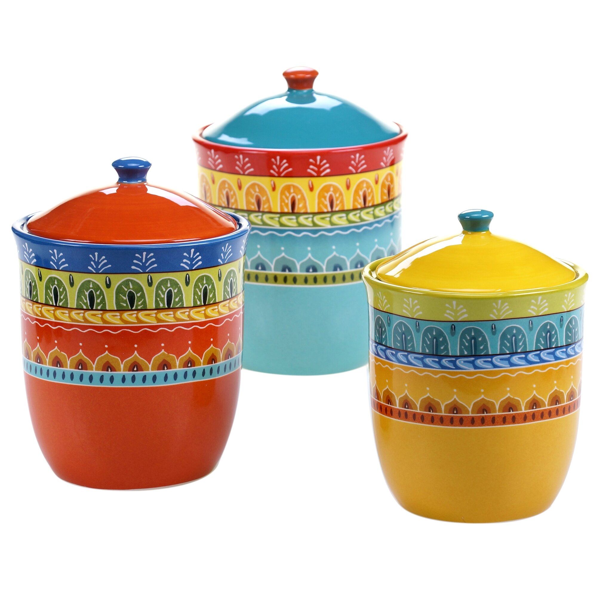 certified international valencia 3 piece kitchen canister