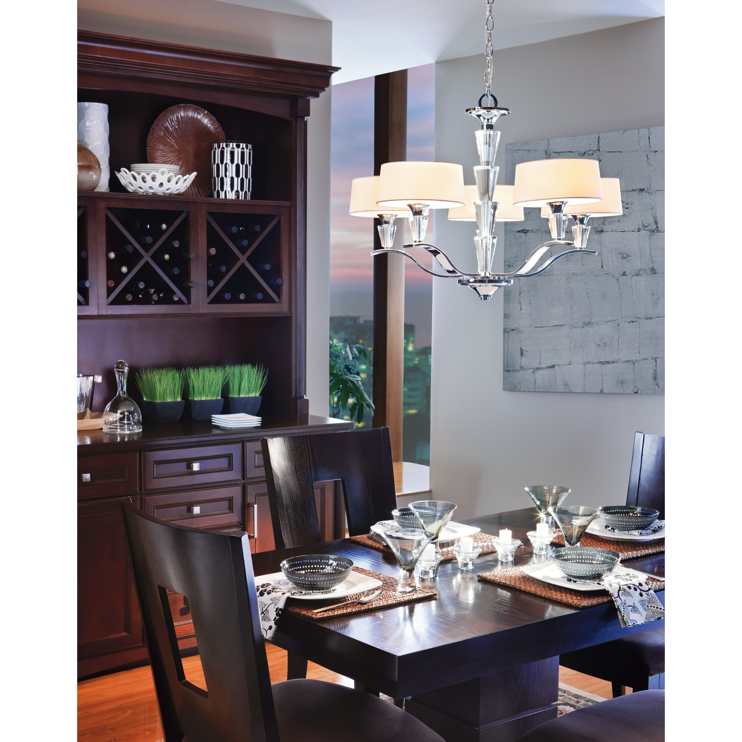 Drum Lights For Kitchen Kichler Crystal Persuasion 5 Light Drum Chandelier Reviews Wayfair