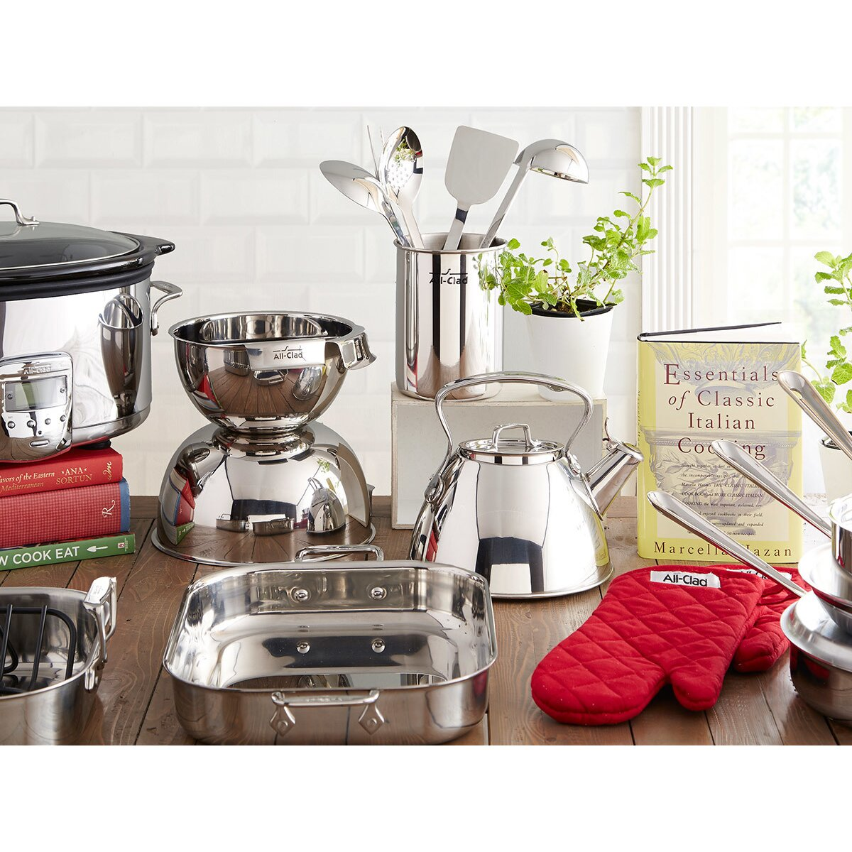 All clad stainless steel cookware sets - All Clad Stainless Steel 5 Piece Cookware Set