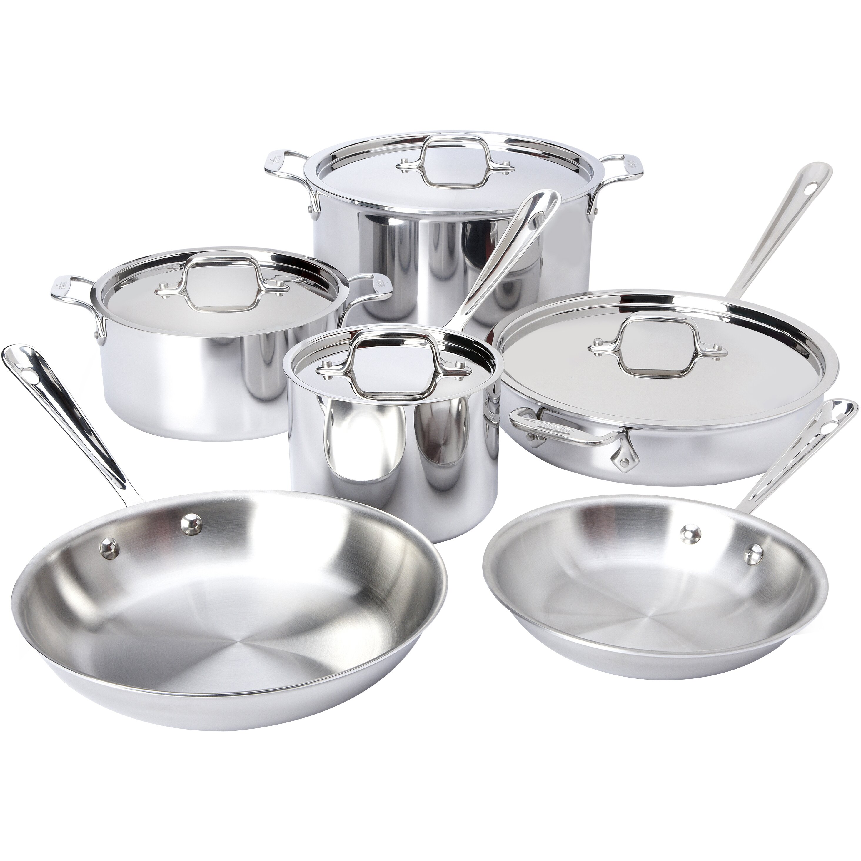 All clad stainless steel cookware sets - All Clad Stainless Steel 10 Piece Cookware Set
