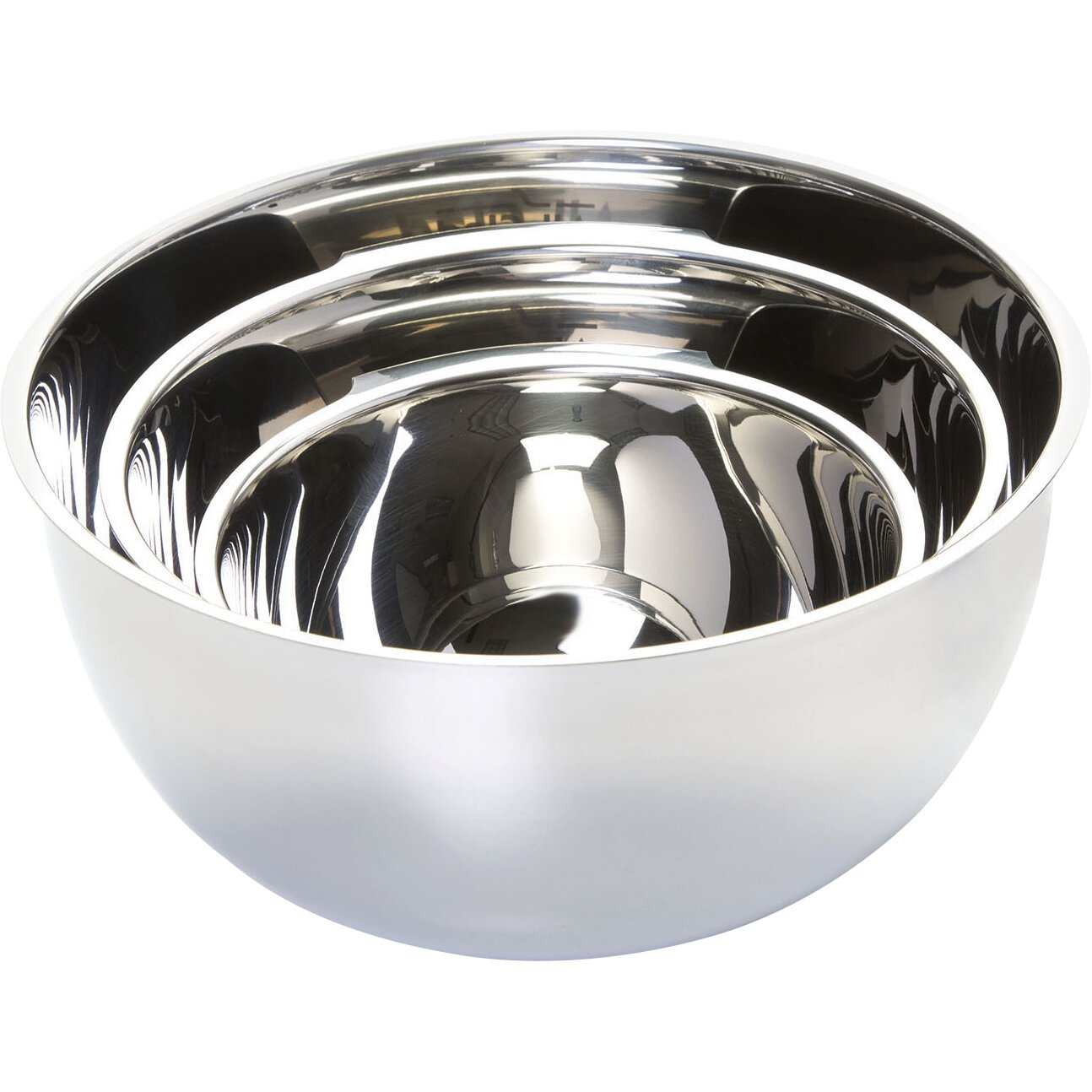 Cuisinart stainless steel mixing bowls with lids - All Clad 3 Piece Mixing Bowl Set