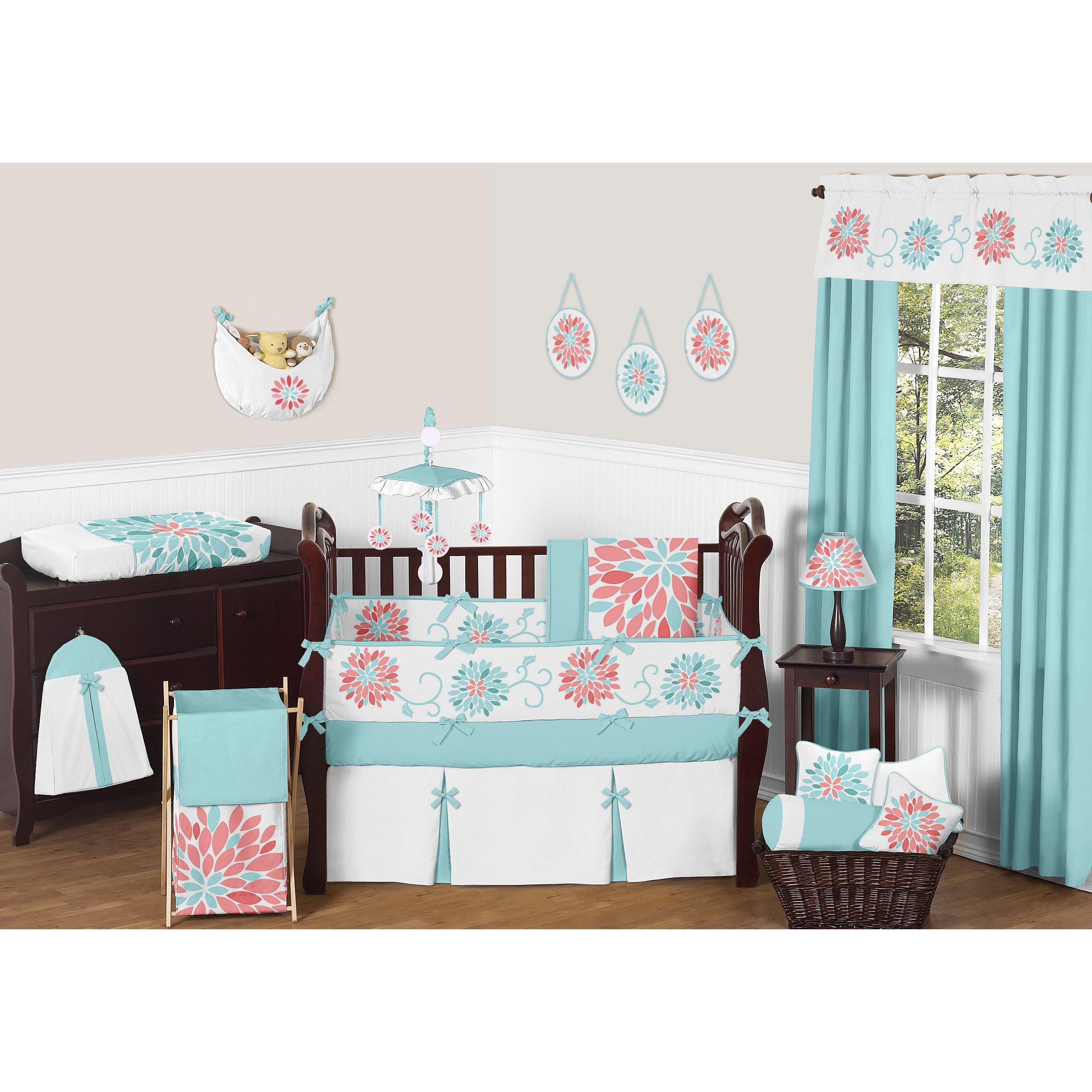 Emma iron crib for sale - Sweet Jojo Designs Emma 9 Piece Crib Bedding Set