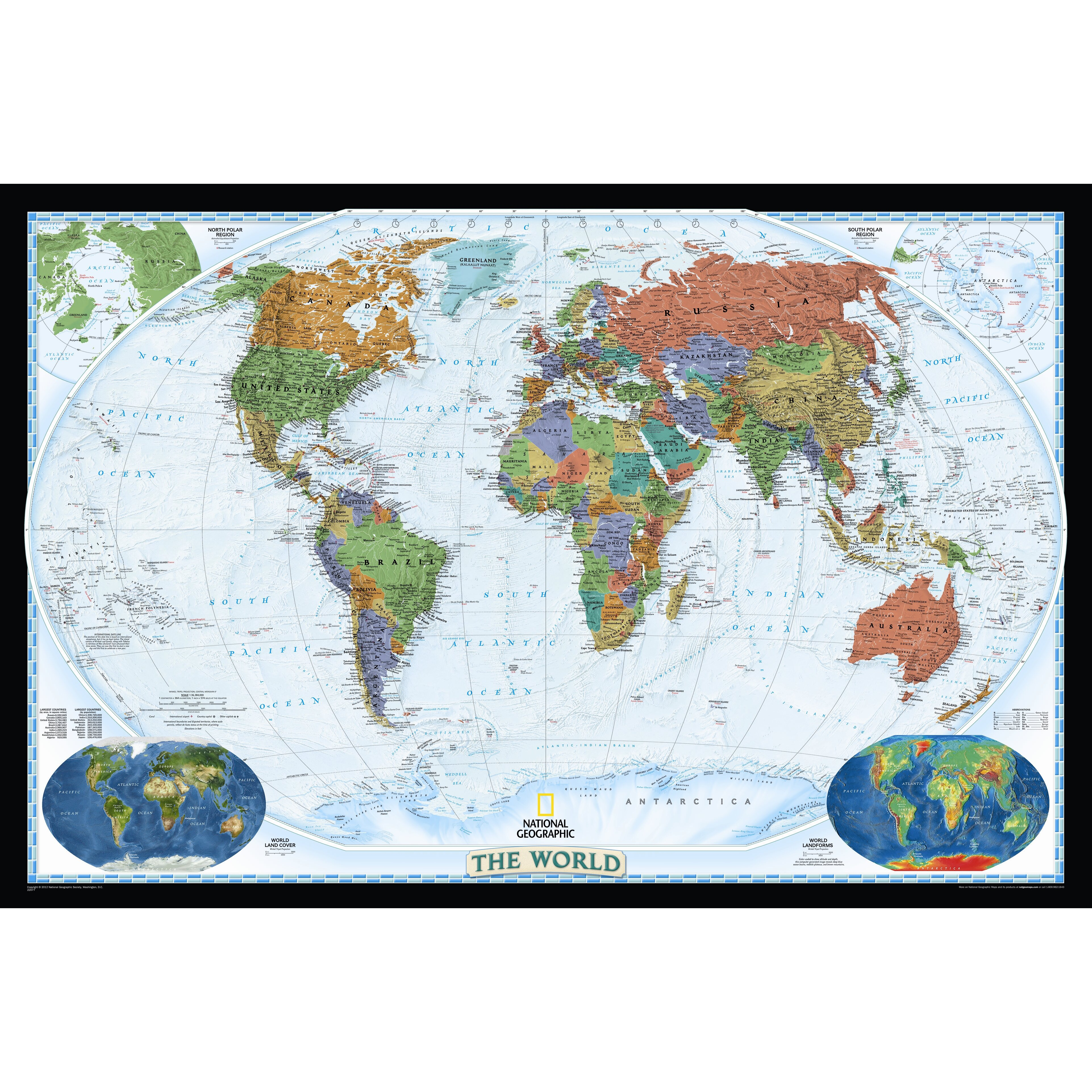 National Geographic Maps World Decorator Wall Map & Reviews   Wayfair