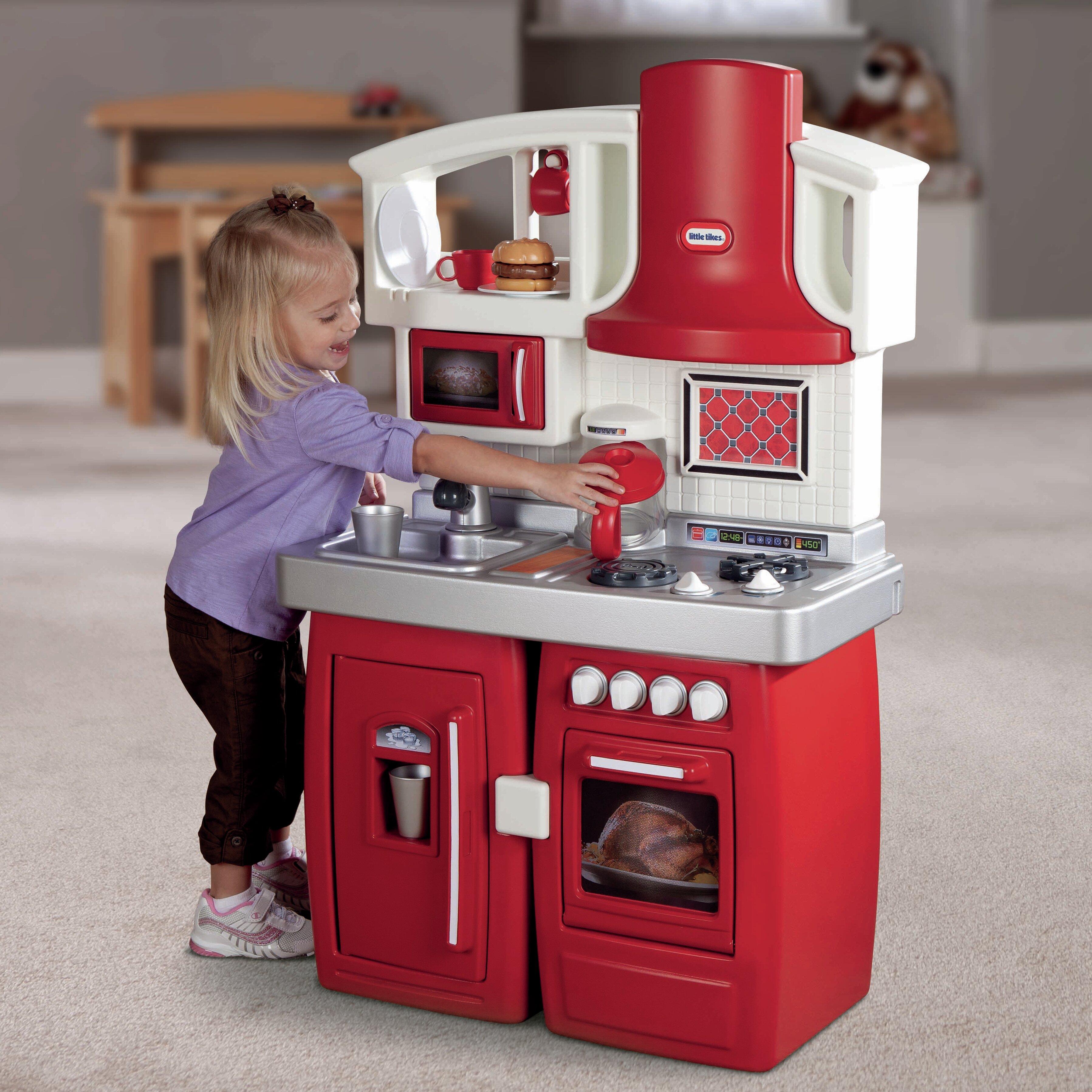 Little Tikes Storage Cabinet Little Tikes Cook N Grow Kitchen Set Reviews Wayfair
