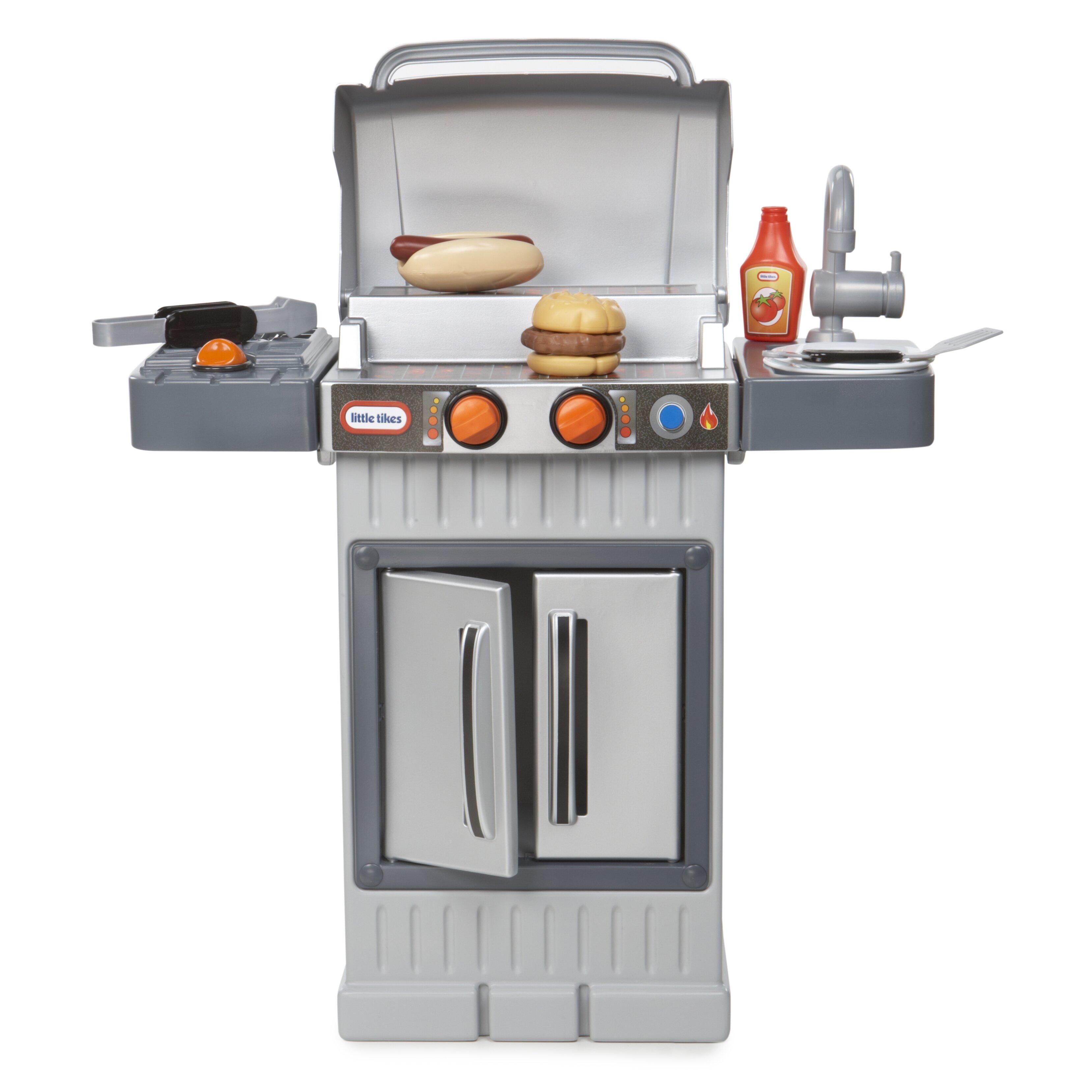 Little Tikes Storage Cabinet Little Tikes Cook N Grow Bbq Grill Kitchen Set Reviews Wayfair