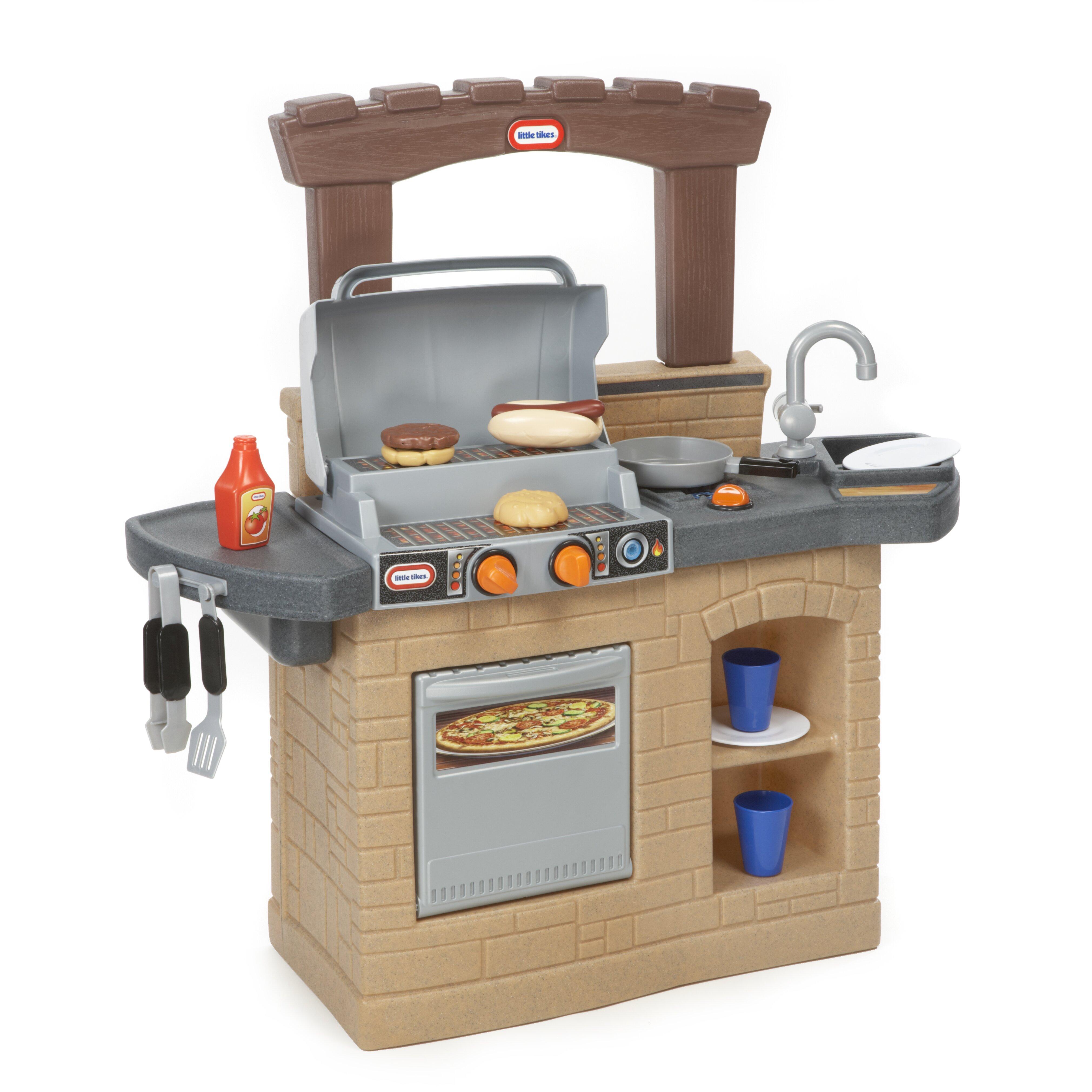 little tikes cook 'n play outdoor bbq™ kitchen set & reviews | wayfair