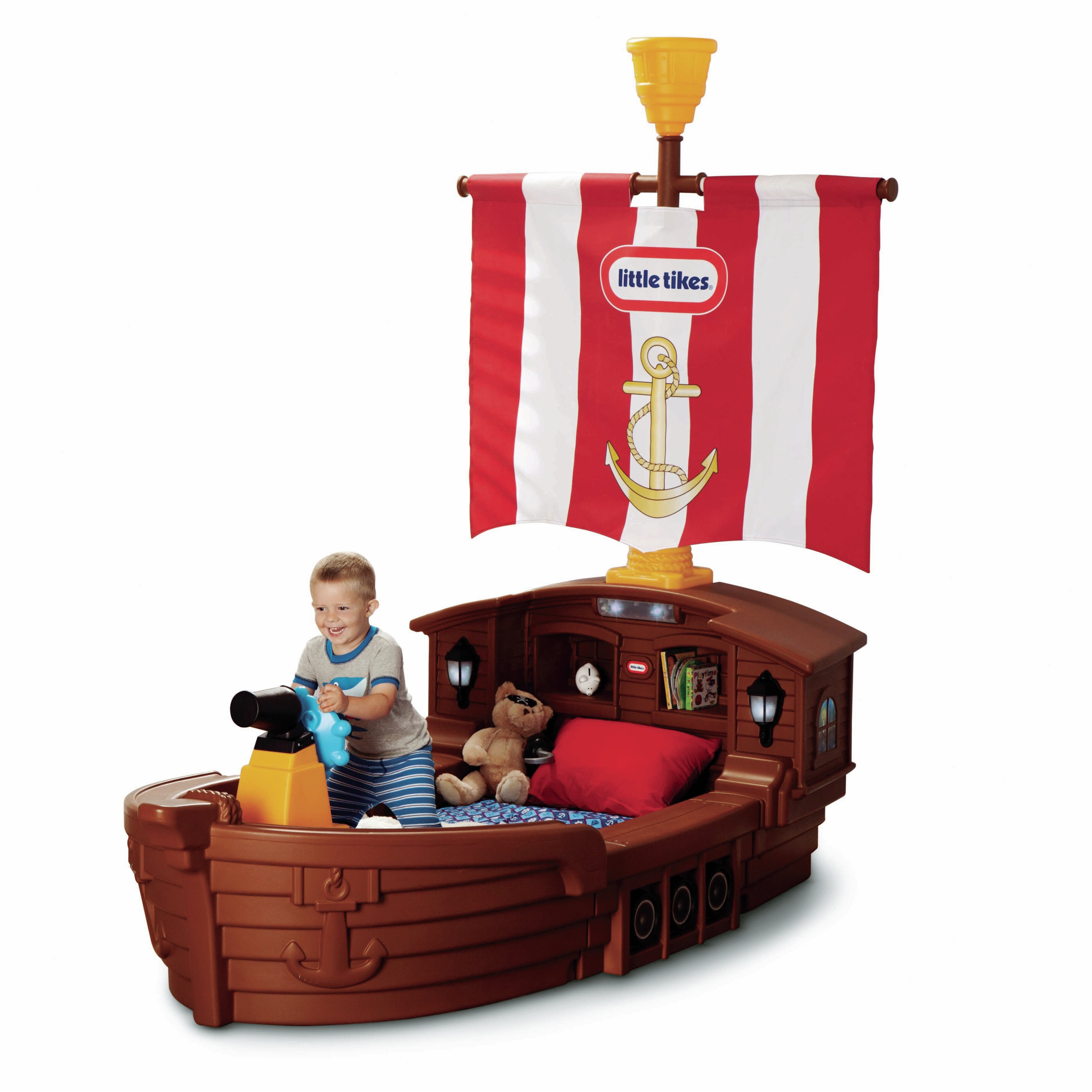 Little Tikes Pirate Ship Toddler Bed Amp Reviews Wayfair