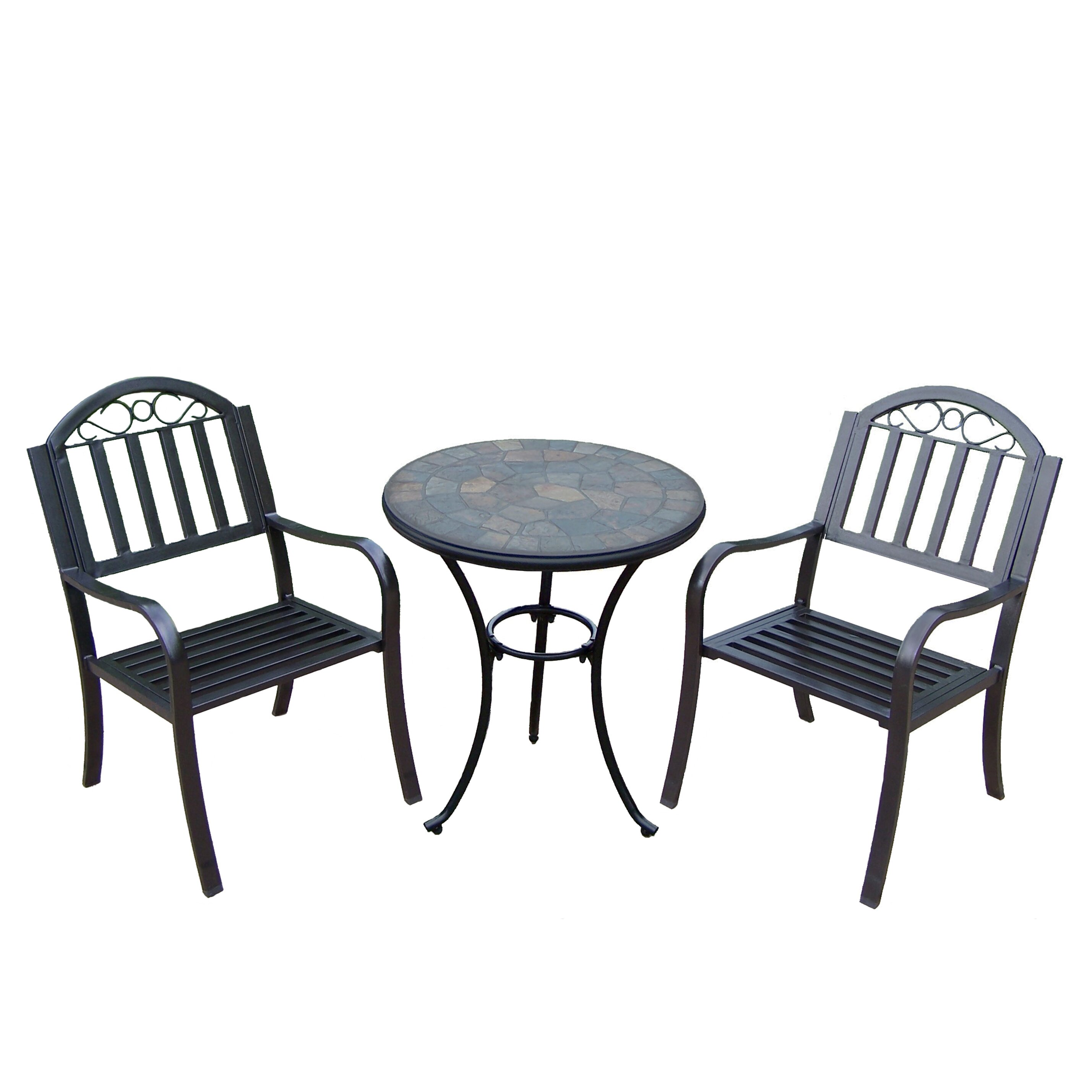 Outdoor Patio Furniture Rochester Ny: Oakland Living Stone Art Rochester 3 Piece Bistro Set