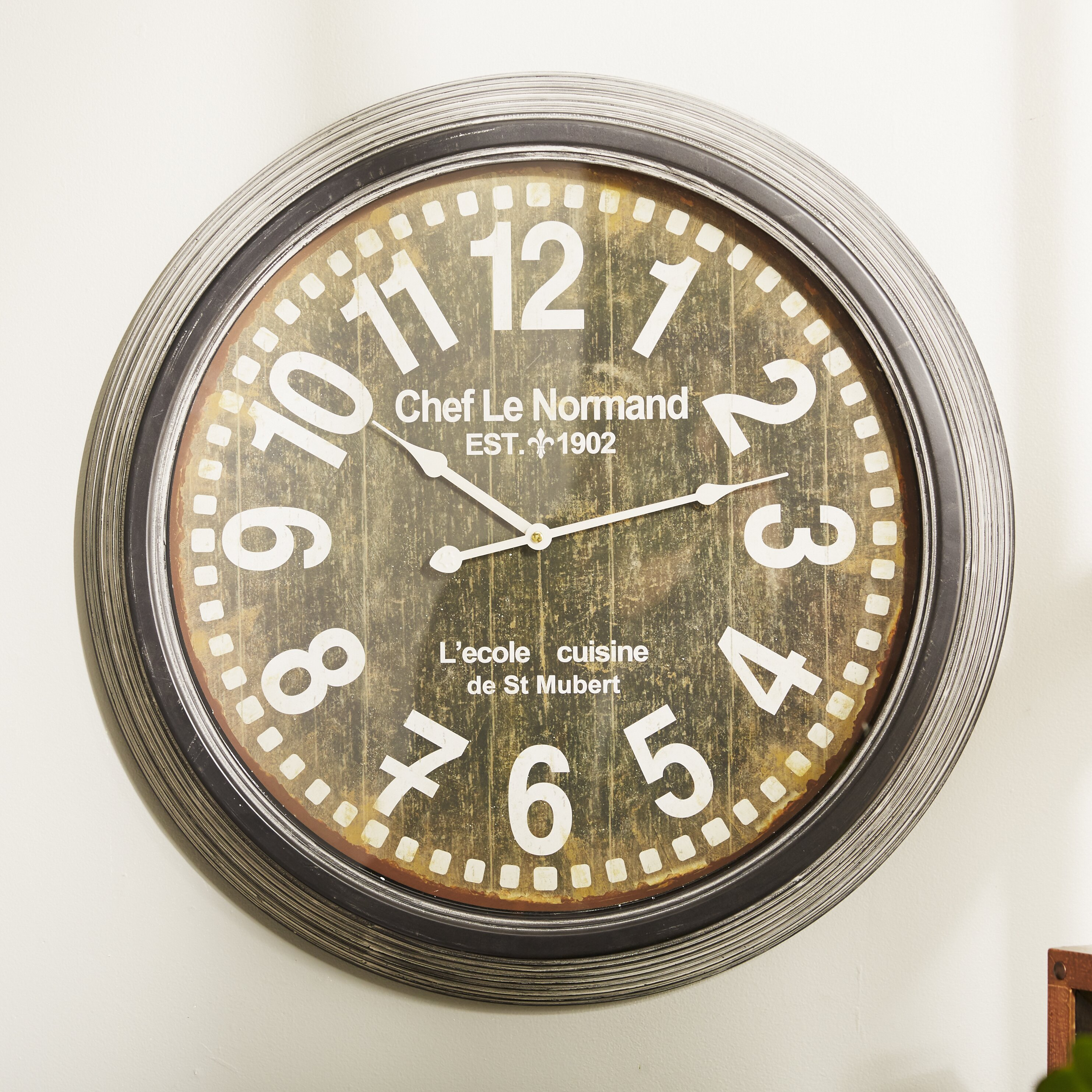 Yosemite Home Decor Oversized Wall Clock Reviews Wayfair