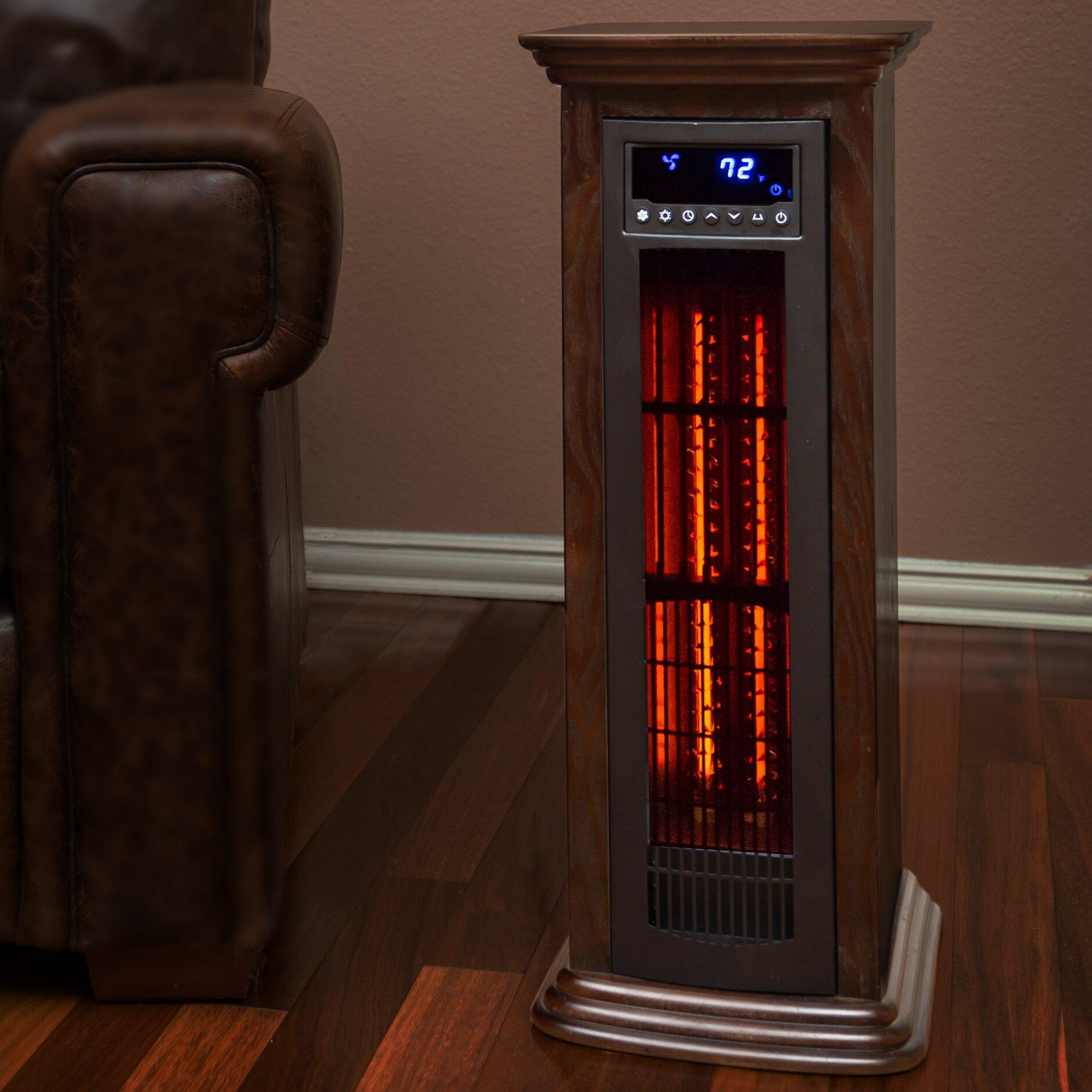 Lifesmart Spas Life Pro 5200 BTU Electric Fan & Infrared Tower Heater