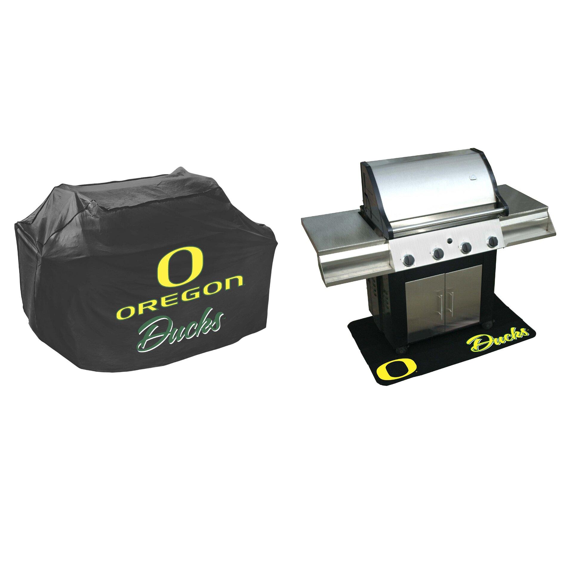 Floor mats b q - Mr Bar B Q Ncaa Grill Cover And Grill Mat Set