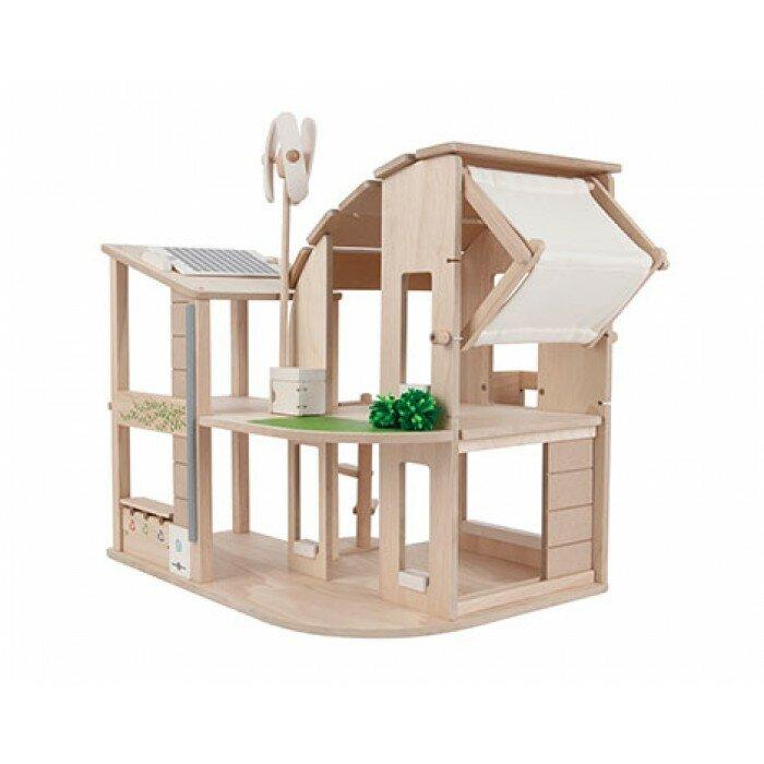 Plan Toys Green Dollhouse 108