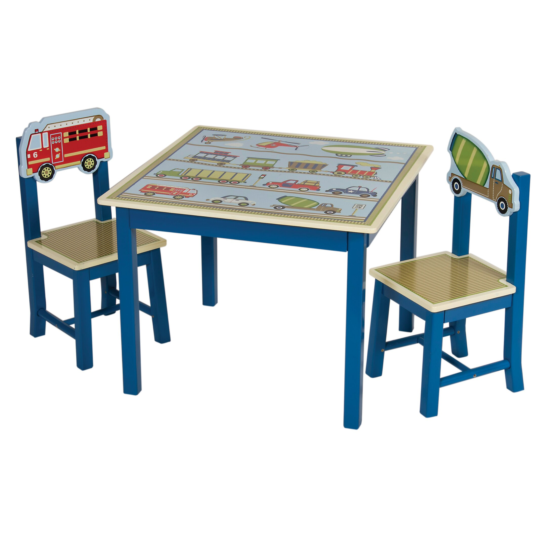 Table Set For Kids Guidecraft Moving All Around Kids 3 Piece Table And Chair Set