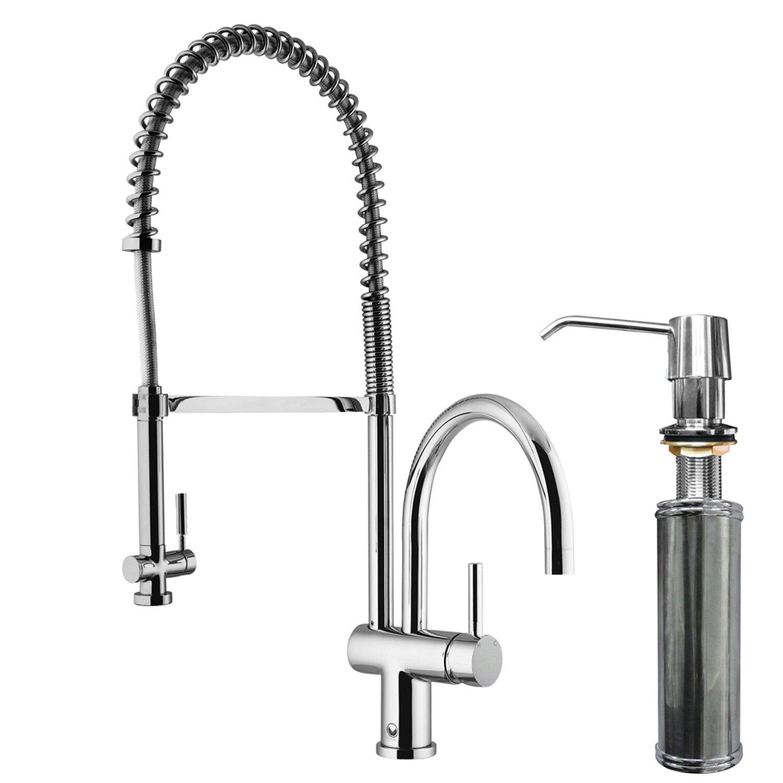 Pull Down Spray Kitchen Faucet Vigo Dresden Pull Down Spray Kitchen Faucet With Soap Dispenser