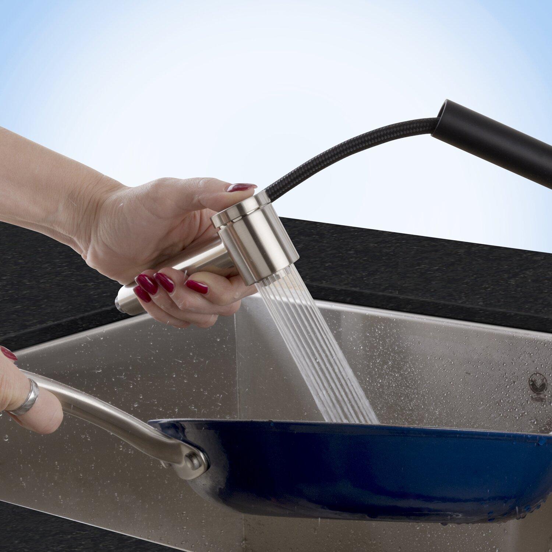 Kitchen Faucets Pull Out Spray Vigo Branson Single Handle Pull Out Spray Kitchen Faucet Reviews