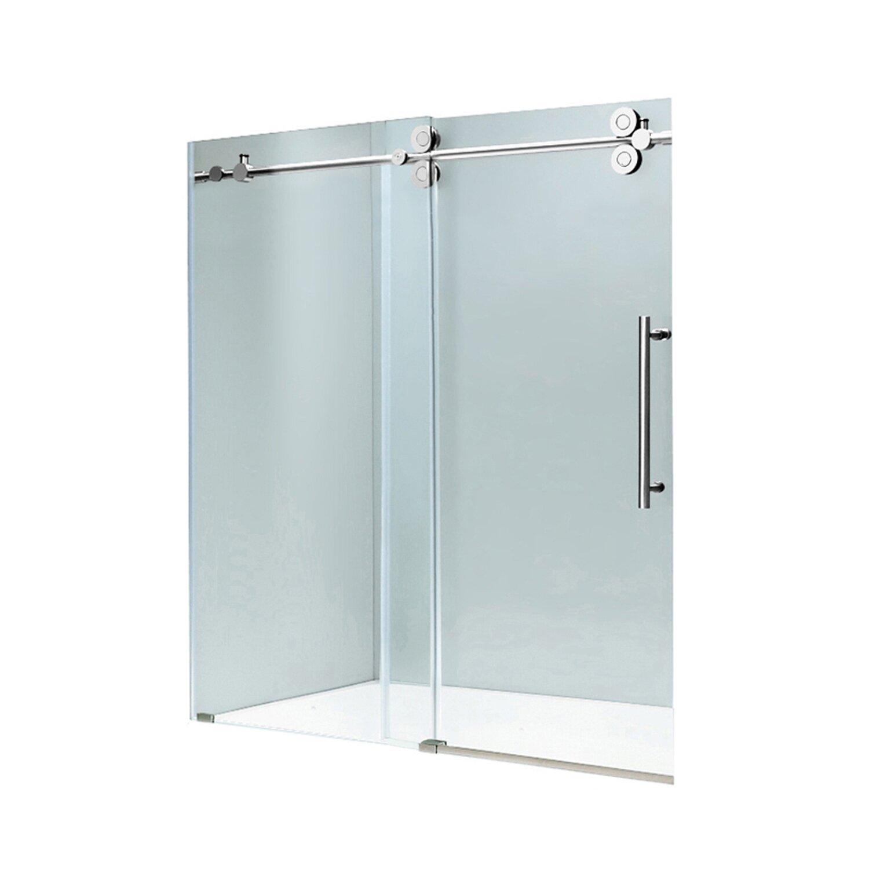 Exterior additions llc indian trail nc 28079 angies list - Frameless Sliding Shower Doors Reviews Vigo Elan 52 X 74 Single Sliding Frameless Shower Door