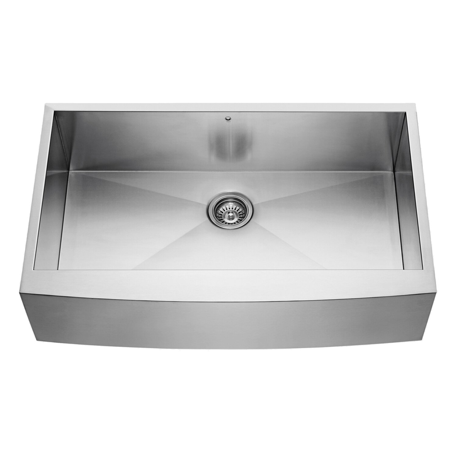 Farmhouse Apron Kitchen Sinks Vigo 36 Inch Farmhouse Apron Single Bowl 16 Gauge Stainless Steel