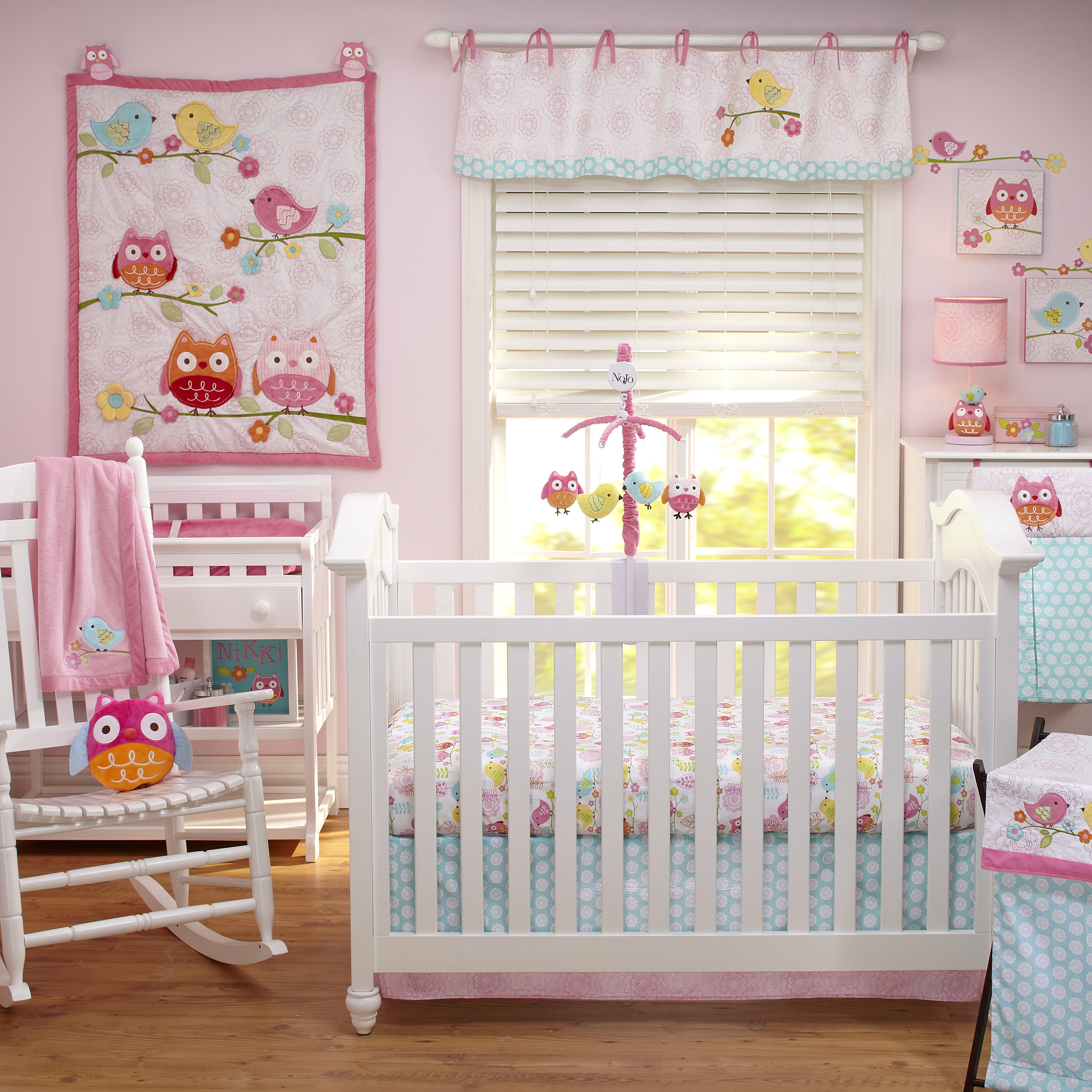 Baby cribs lubbock tx - Nojo Love Bird 4 Piece Crib Bedding Set