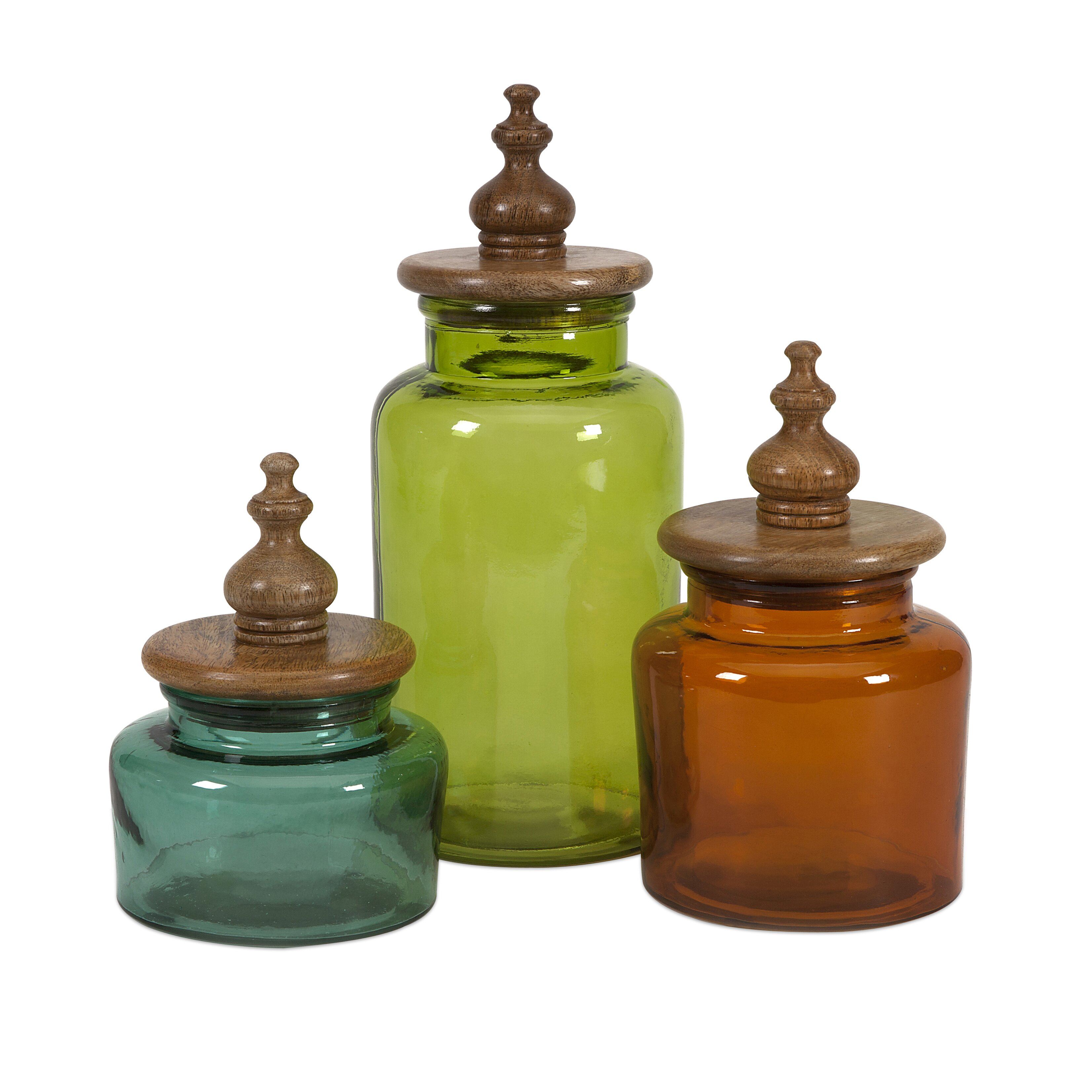 Green Canister Sets Kitchen Imax Saburo 3 Piece Kitchen Canister Set Reviews Wayfair