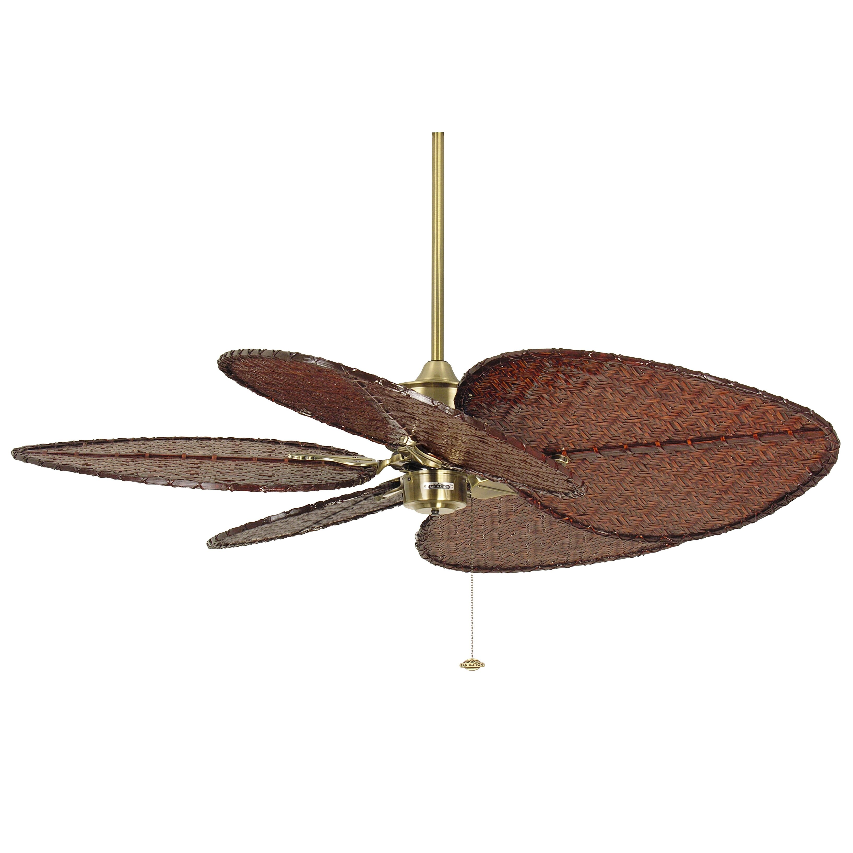 Ceiling fan with leaf blades - Fanimation 52 Quot Islander 5 Bamboo Blade Ceiling Fan
