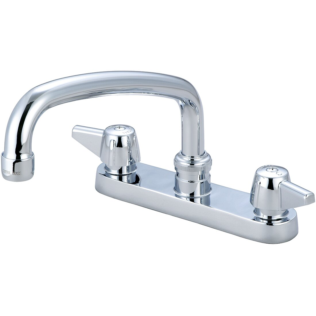 Double Handle Kitchen Faucet Central Brass Double Handle Centerset Kitchen Faucet With 6