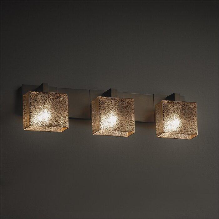 Vanity With Studio Lights : Brayden Studio Luzerne 3-Light Vanity Light & Reviews Wayfair.ca