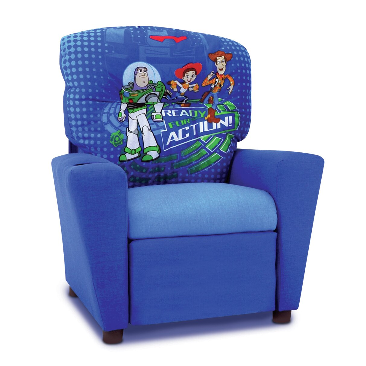 KidzWorld Disney Toy Story 3 Kids Recliner with Cup Holder – Children Recliner Chairs