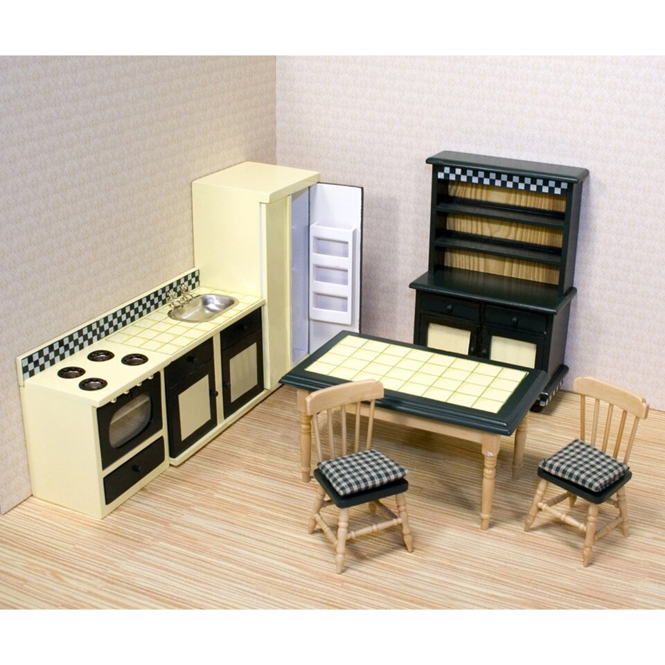 Kitchen Dollhouse Furniture Melissa Doug Dollhouse Kitchen Furniture Reviews Wayfair