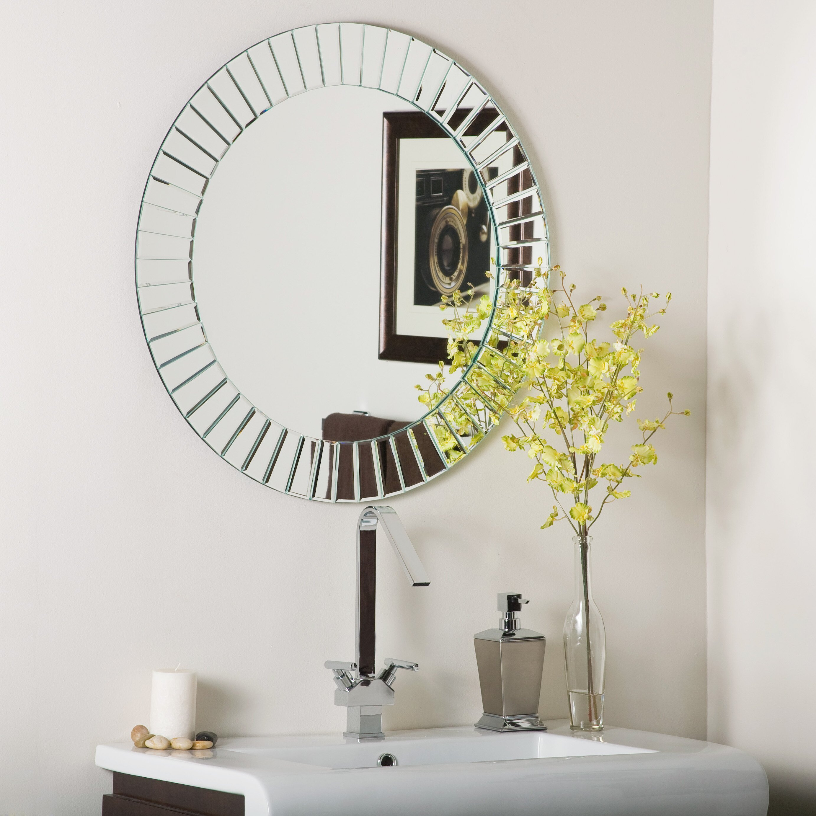 House of Hampton Laine Frameless Beveled Wall Mirror. House of Hampton Laine Frameless Beveled Wall Mirror  amp  Reviews