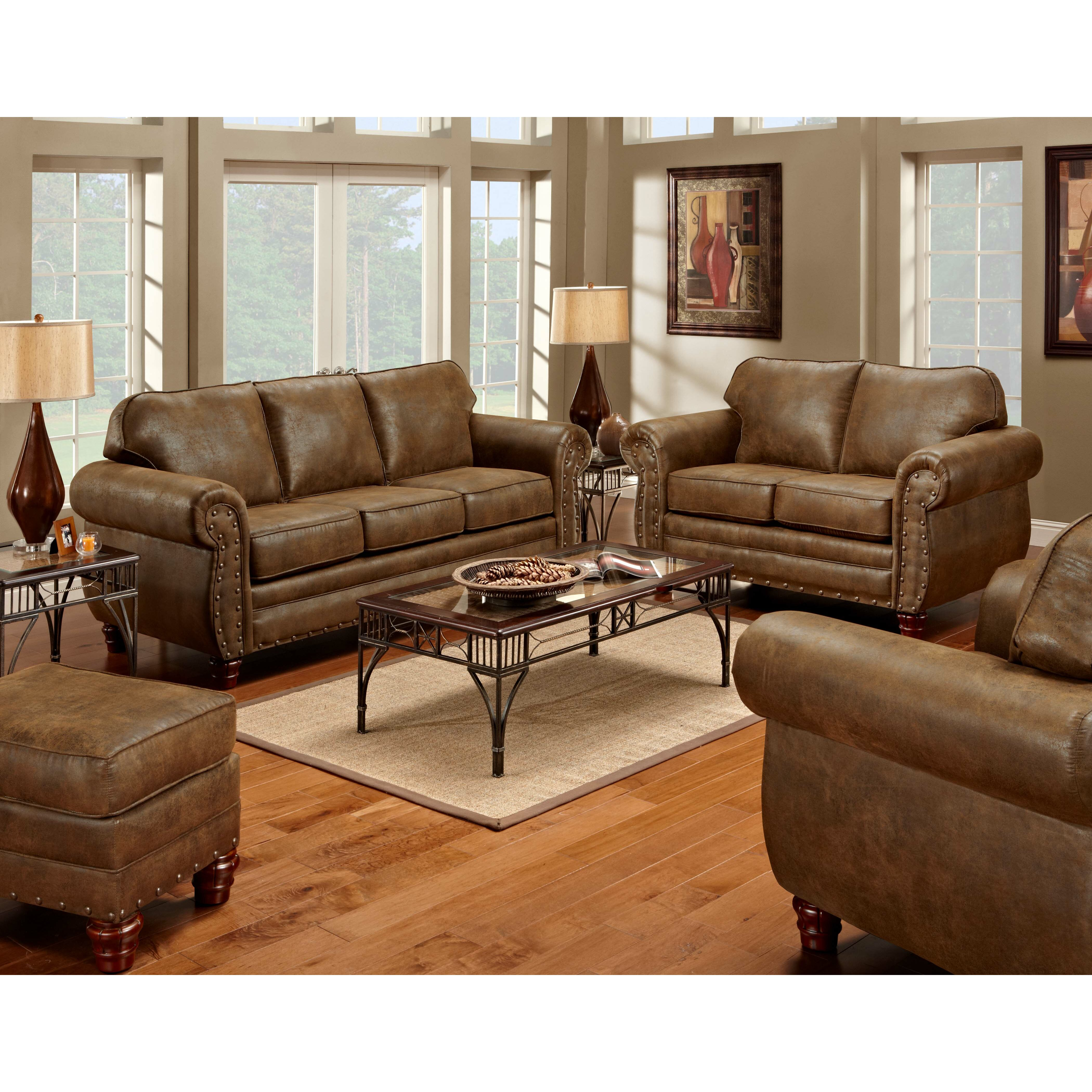 Sedona Nailhead Living Room Set