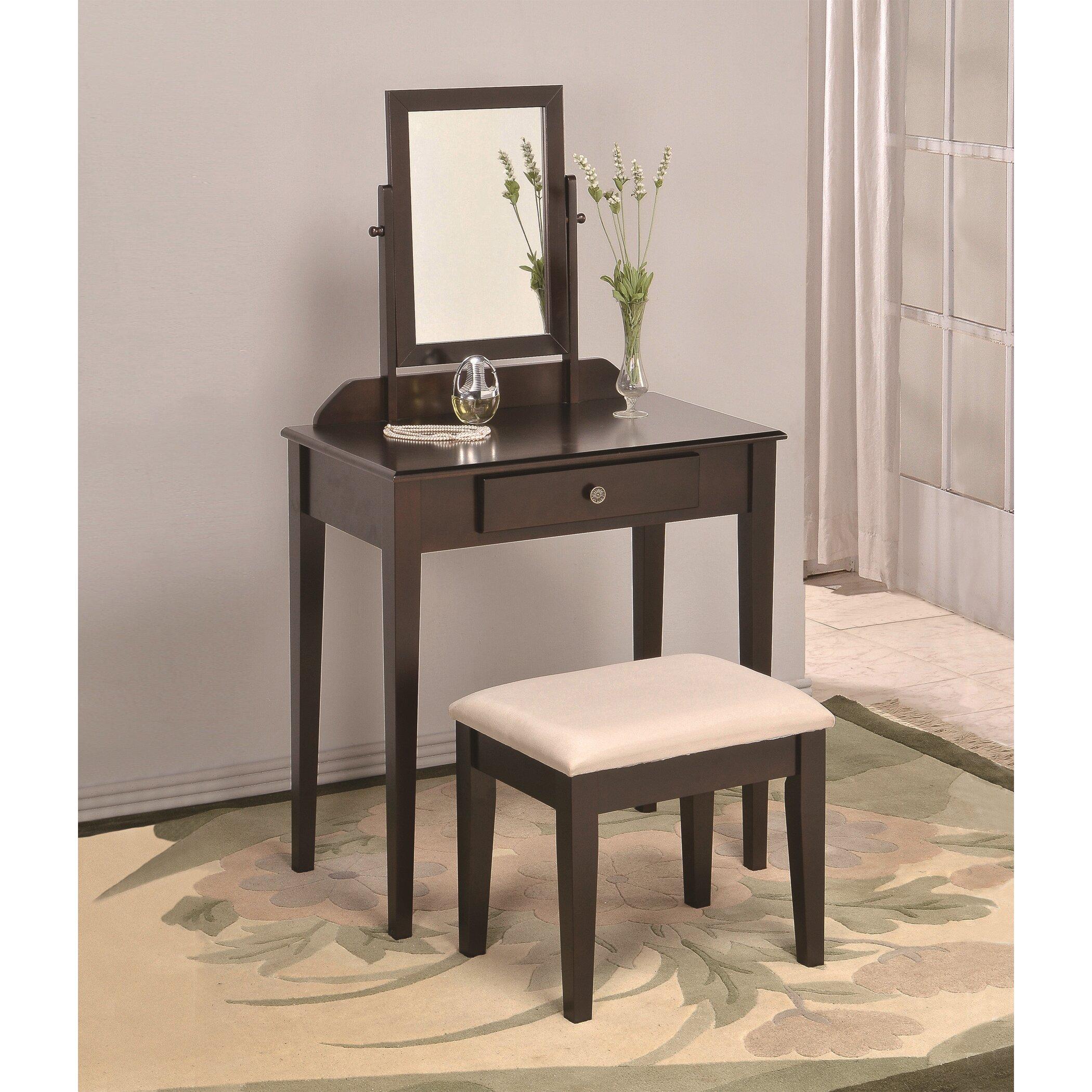 american furniture classics vanity set with mirror reviews wayfair
