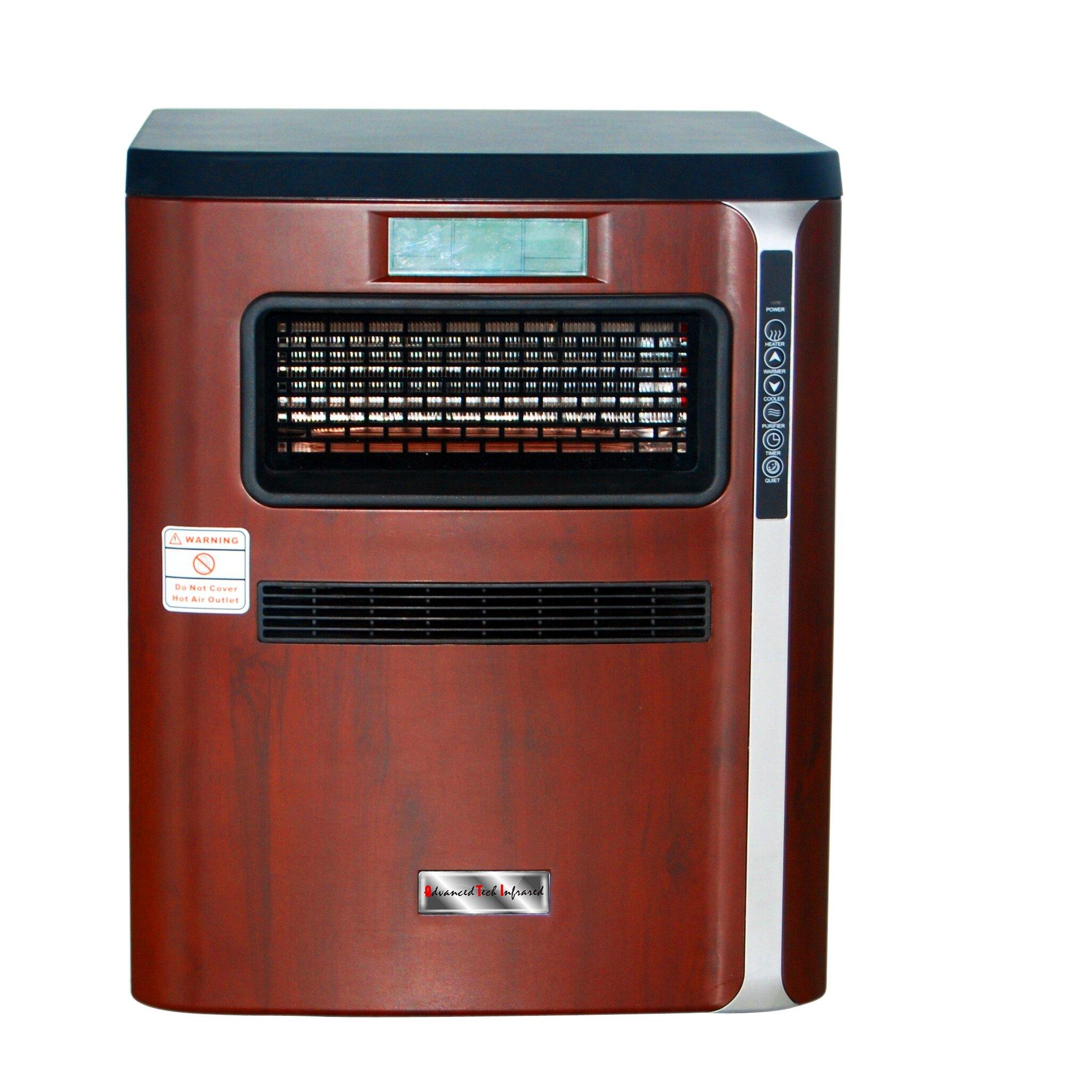 Portable Electric Air Filter : Advanced tech infrared watt portable electric
