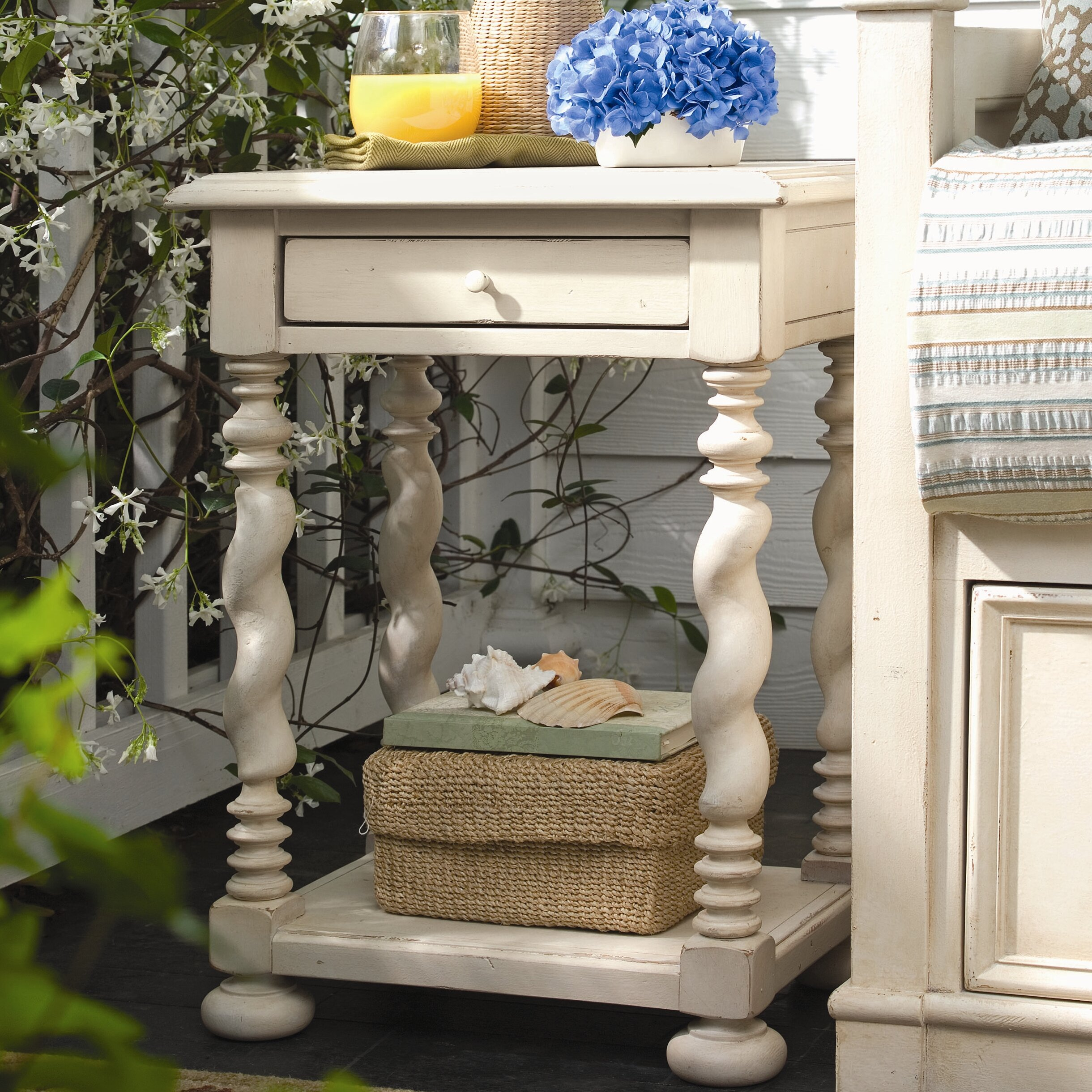 Paula Deen Bedroom Furniture Collection Steel Magnolia Paula Deen Home Sweet Tea End Table Reviews Wayfair