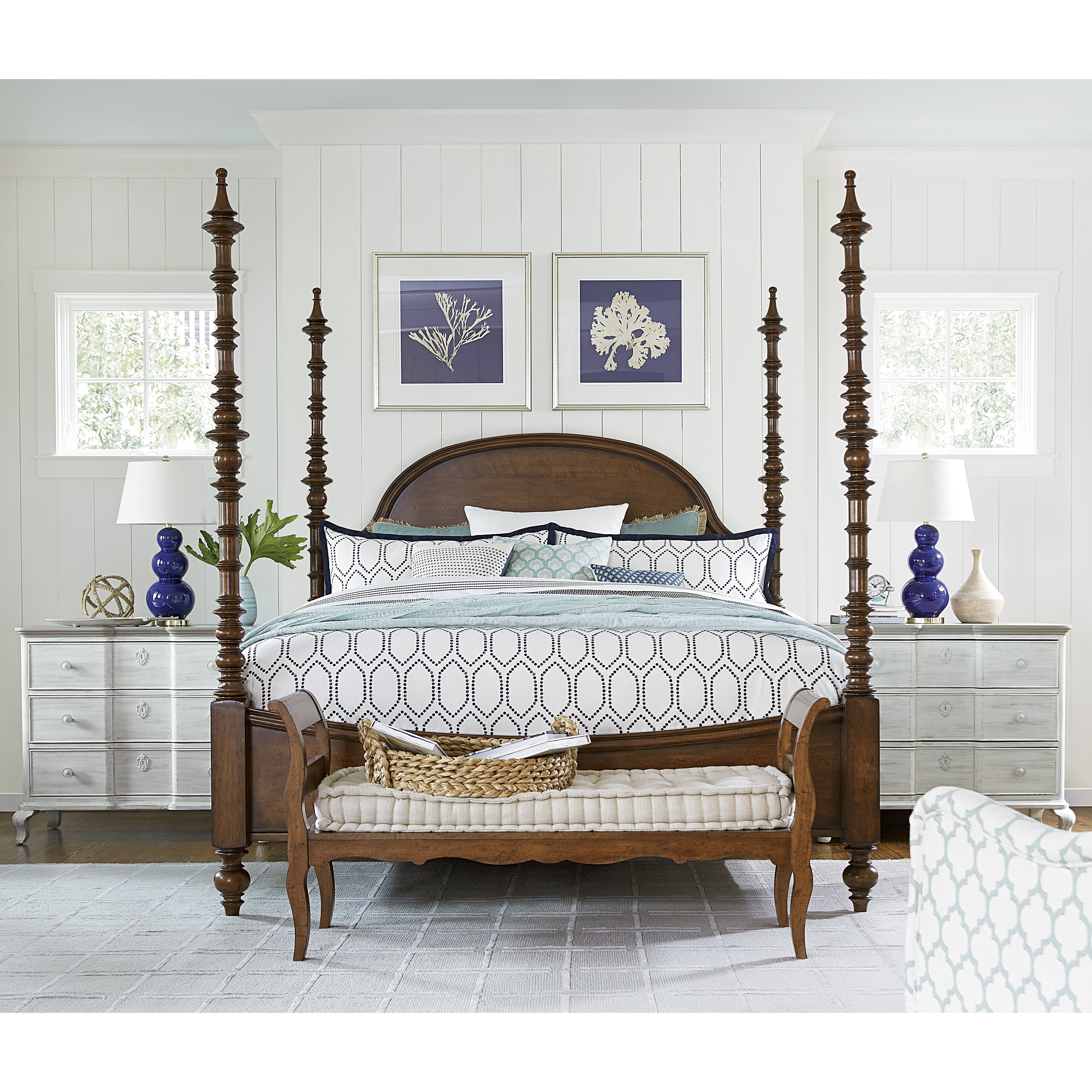 Paula Deen Bedroom Furniture Collection Steel Magnolia Paula Deen Home Dogwood Four Poster Customizable Bedroom Set