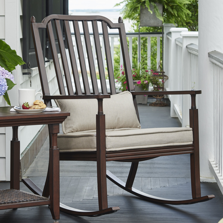 ... Deen Home River House Porch Rocking Chair with Cushions  Wayfair.ca