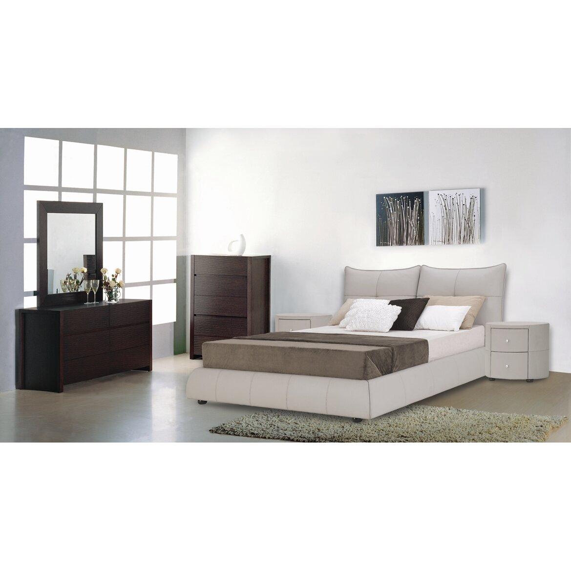 Hokku designs excite upholstered platform bed reviews for Platform bedroom designs